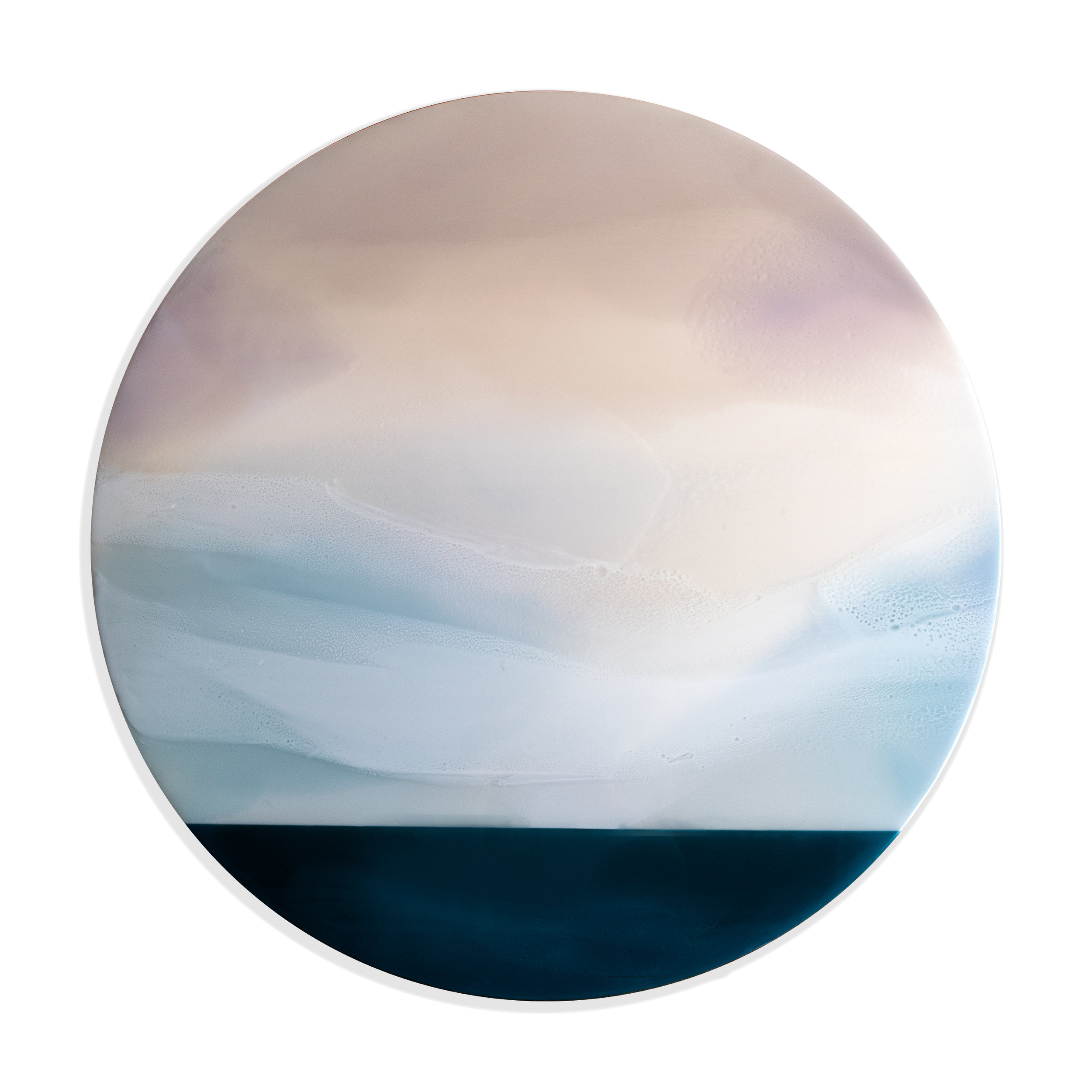 """Vantage Point II - 36"""" x 36"""" pigmented resin on panelSOLD"""