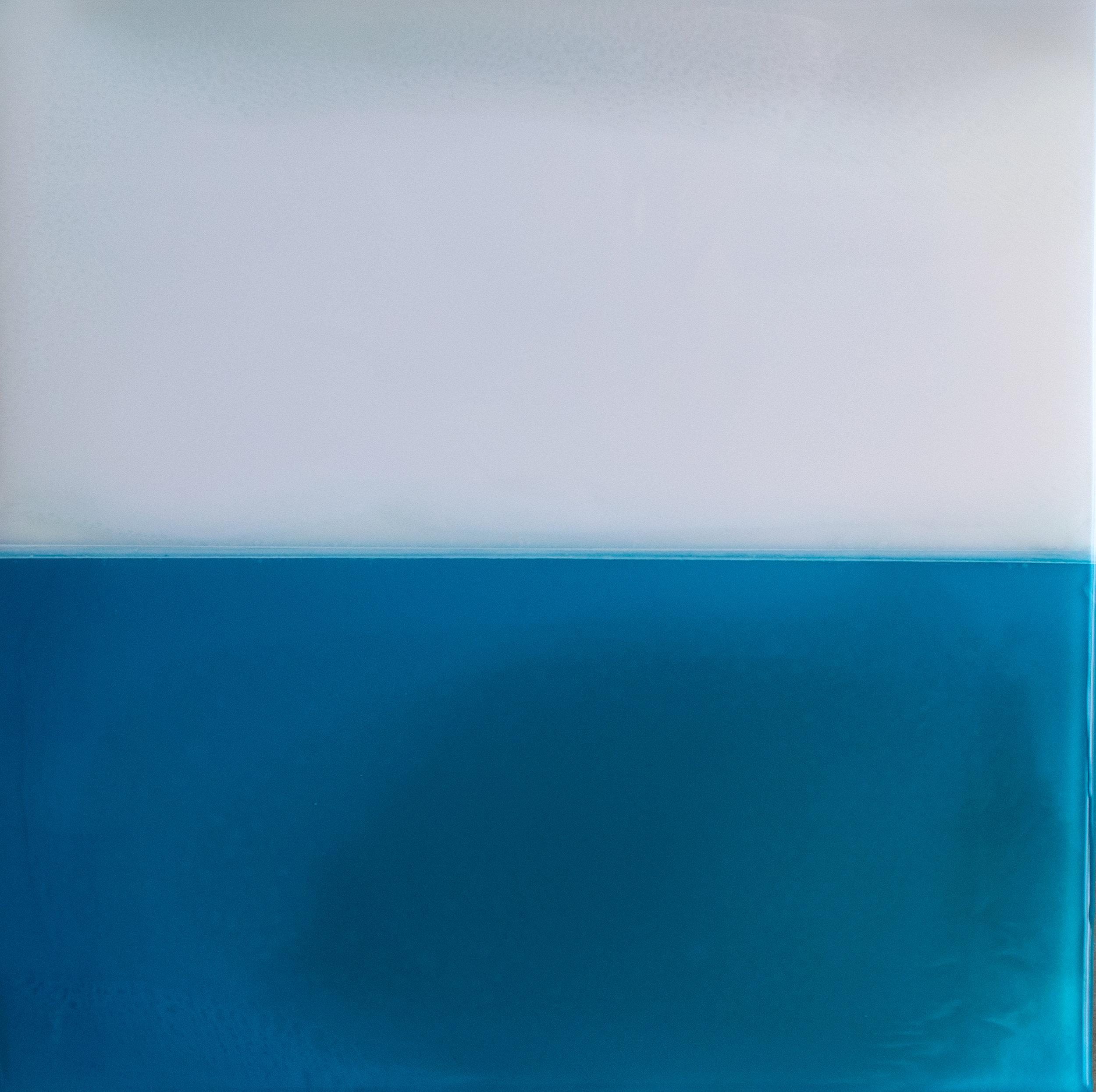 "Horizon Study No. 7 - 12"" x 12"" tinted resin on panelSOLD"