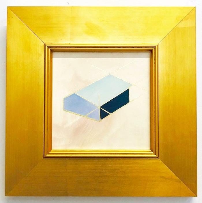 """Mantra A - 6"""" x 6"""" oil and gold leaf on panel, framedSOLD"""