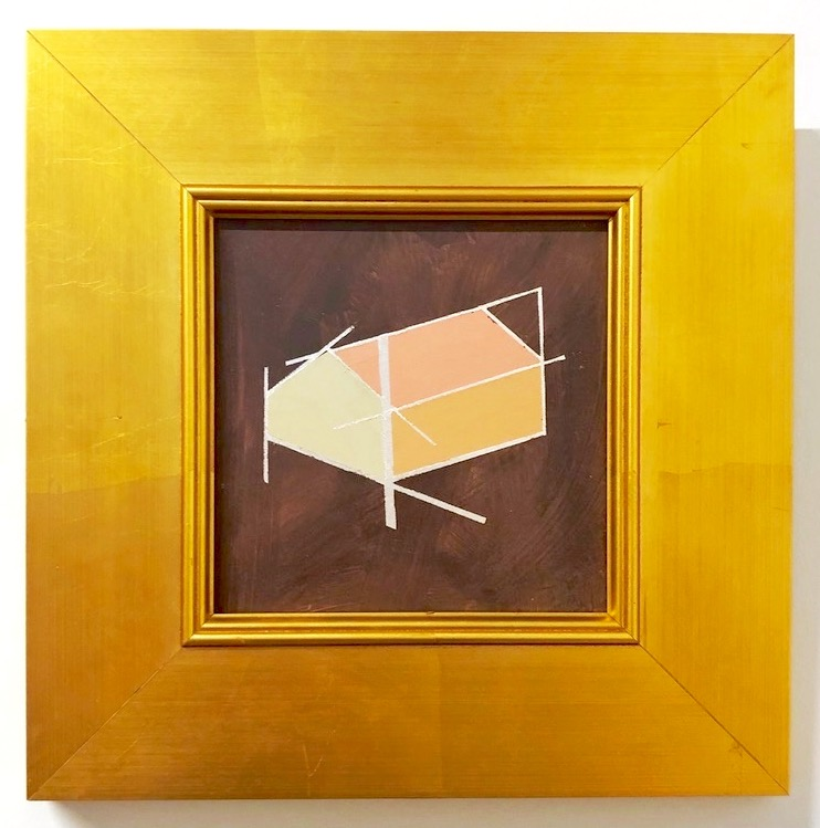 """Mantra B - 6"""" x 6"""" oil and gold leaf on panel, framedSOLD"""