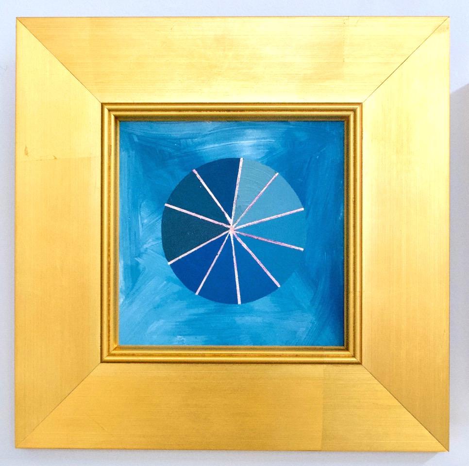 """Mantra C - 6"""" x 6"""" oil and gold leaf on panel, framedSOLD"""