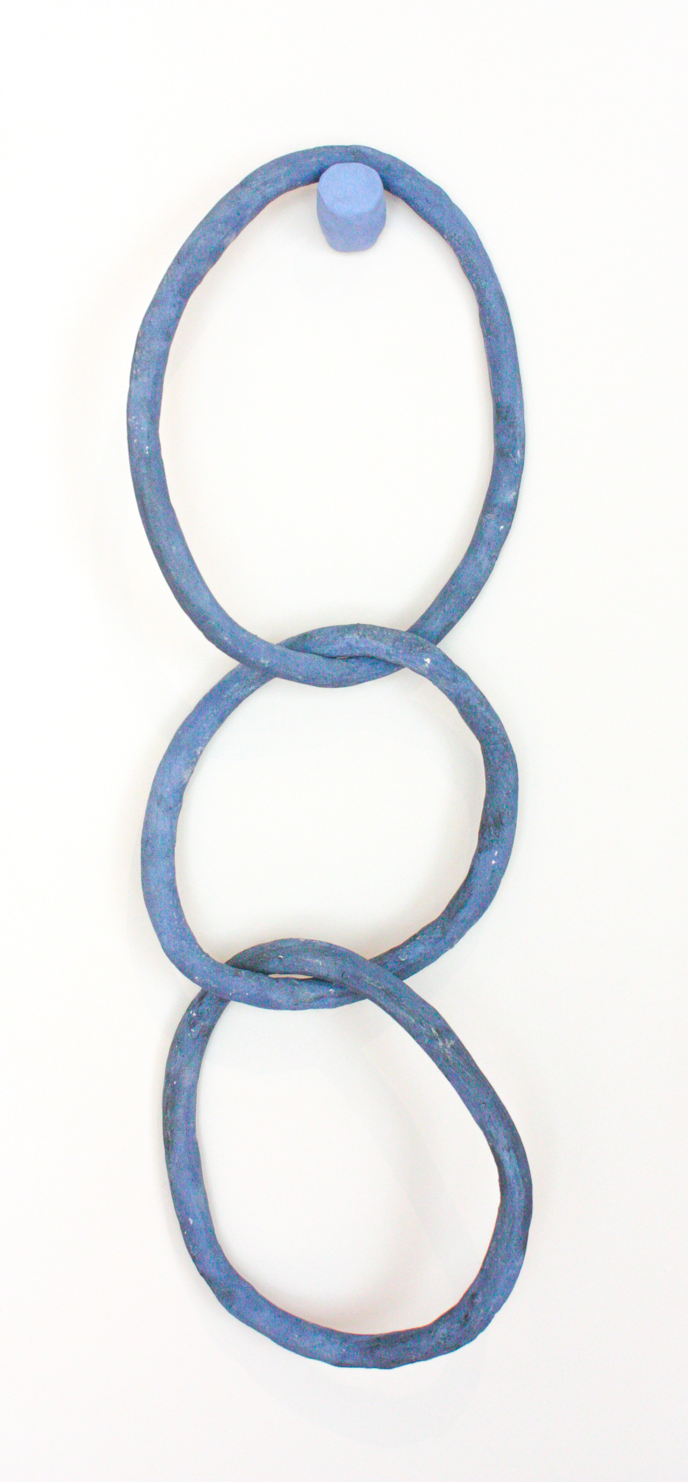 """Blue Rings - 24"""" x 10"""" stoneware clay and ceramic glazeSOLD"""