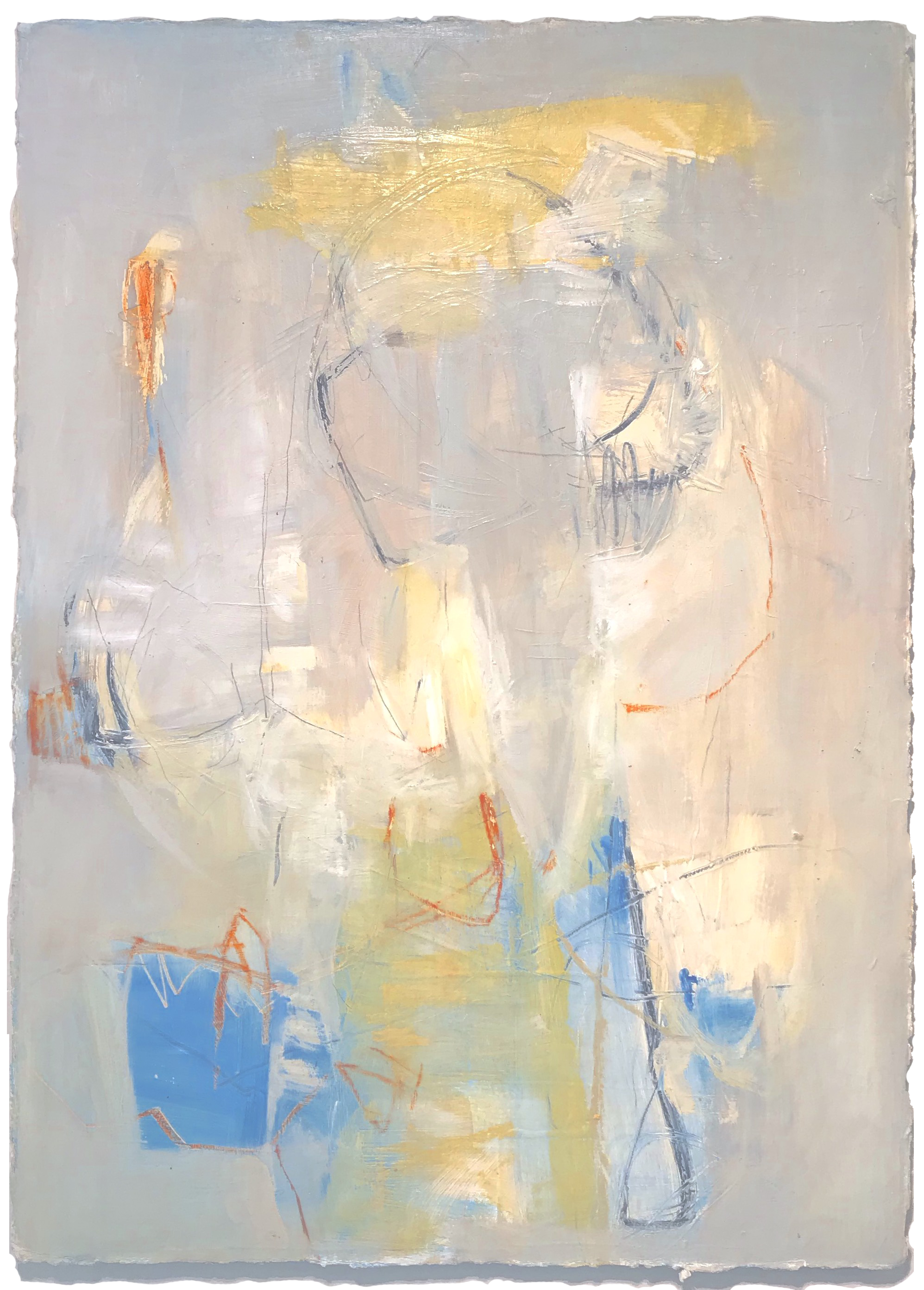 """Just Playing - 36"""" x 26"""" oil on paper, mounted to French cleatSOLD"""