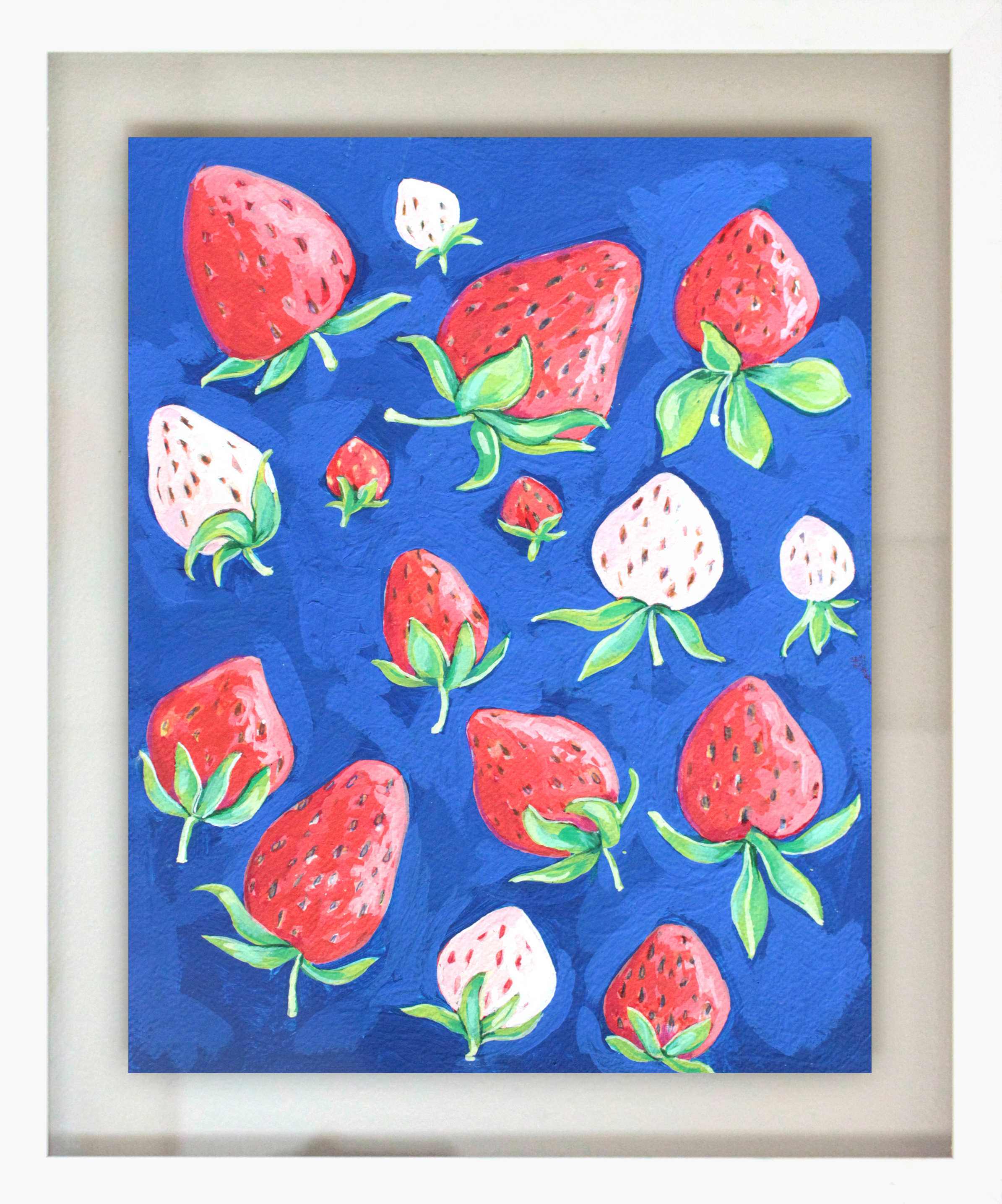 "Wild Berry Jam - 18.5"" x 15.5"" gouache on paper, framed$350"