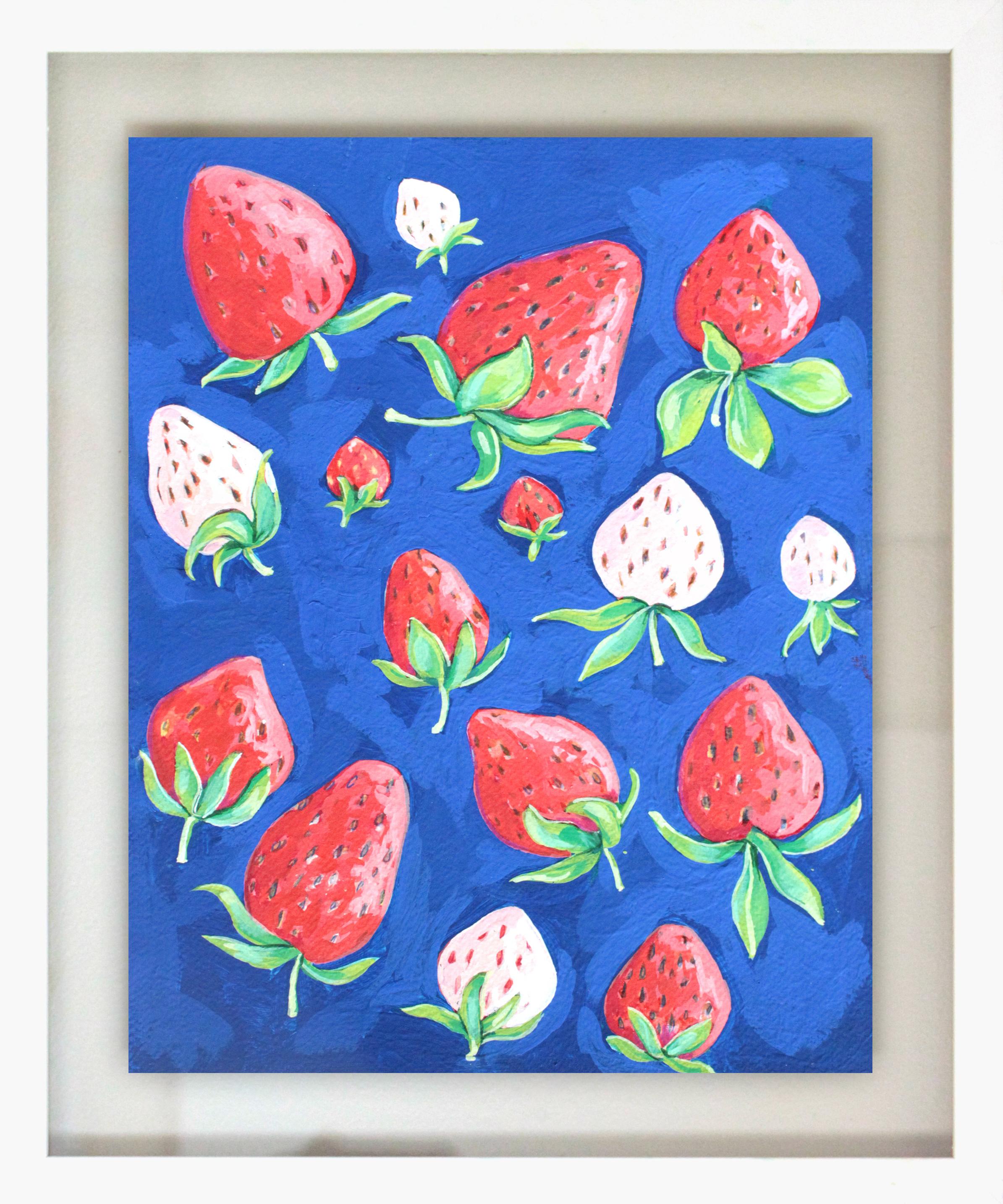 """Wild Berry Jam - 18.5"""" x 15.5"""" gouache on paper, framedSOLD"""