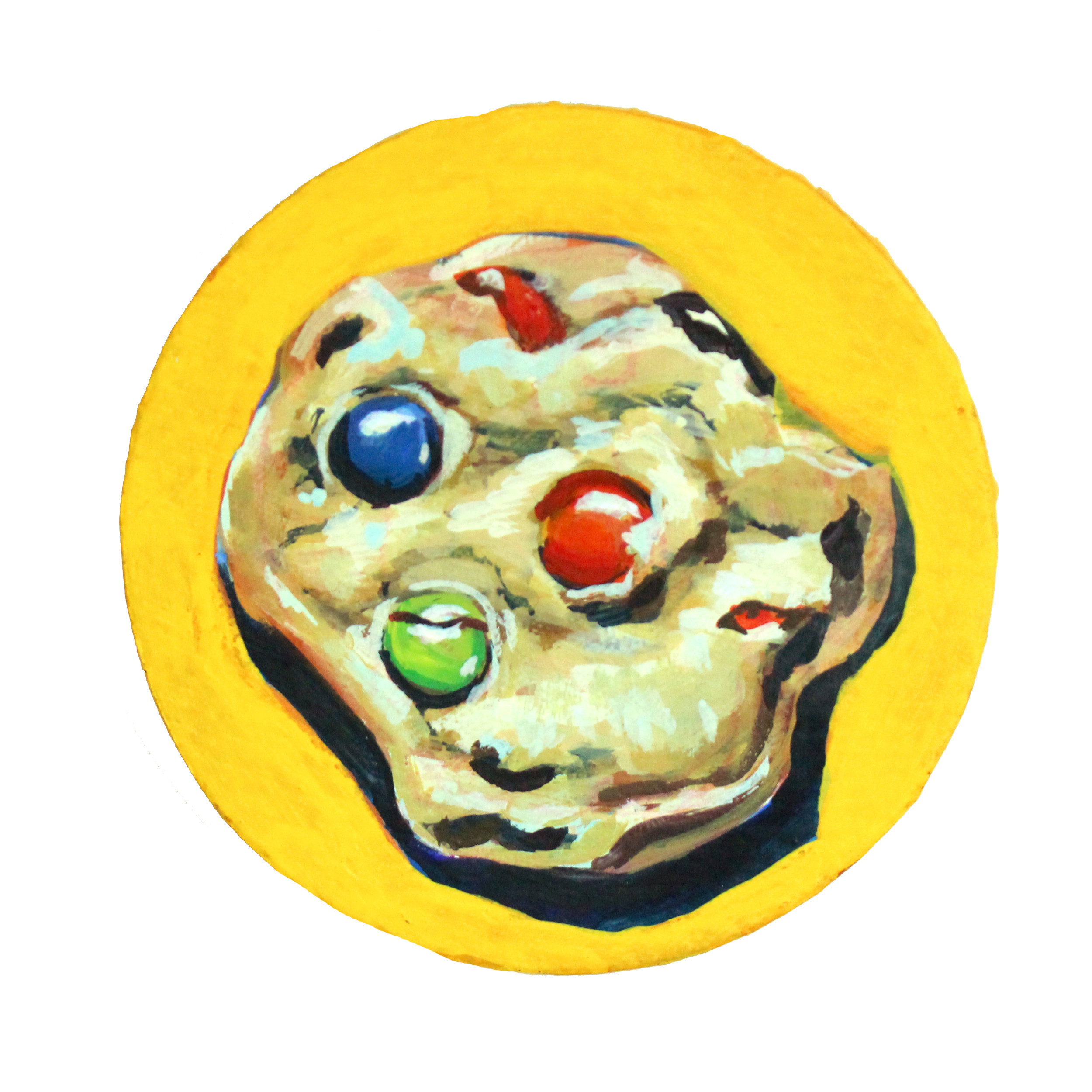 "M&M - 5"" x 5"" gouache on canvas$95"