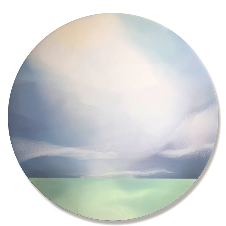 """Above Us Only Sky II - 40"""" x 40"""" pigmented resin on panelON LOAN"""