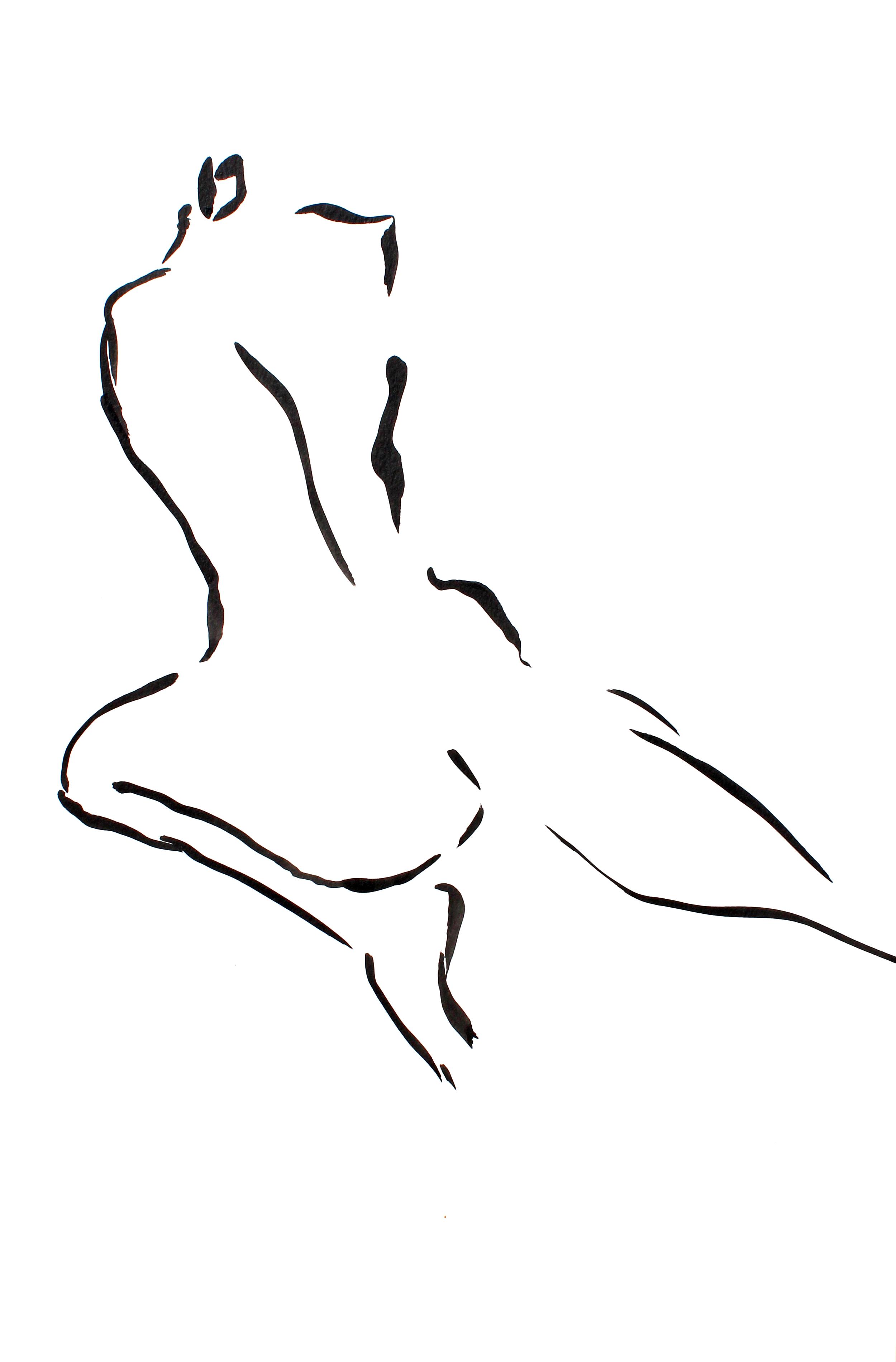 "Claudette - 12"" x 18"" ink on paper SOLD"