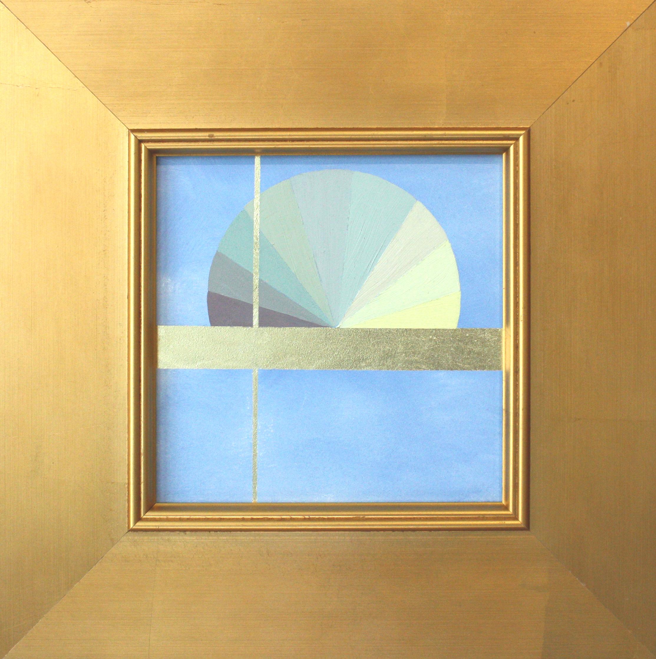 """Mantra G - 6"""" x 6"""" oil and gold leaf on panel, framed$450"""