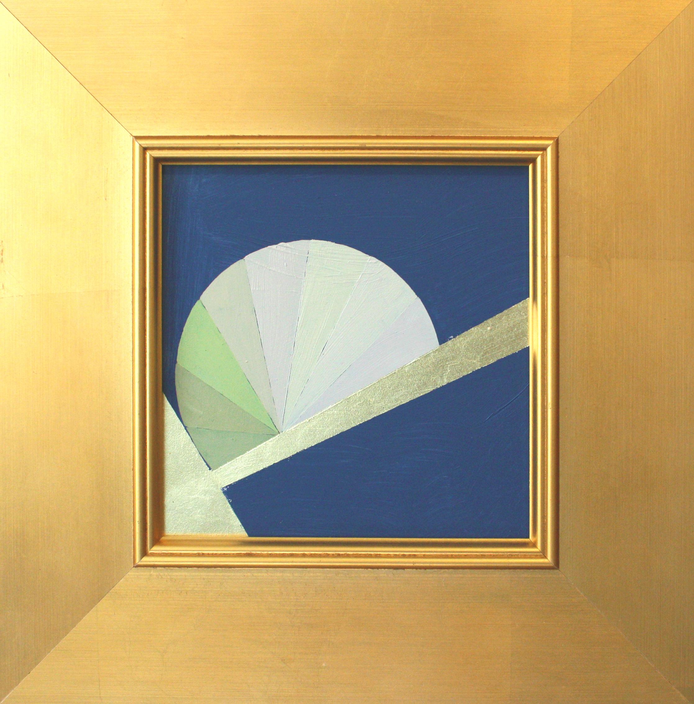 "Mantra H - 6"" x 6"" oil and gold leaf on panel, framed$450 | ON LOAN"