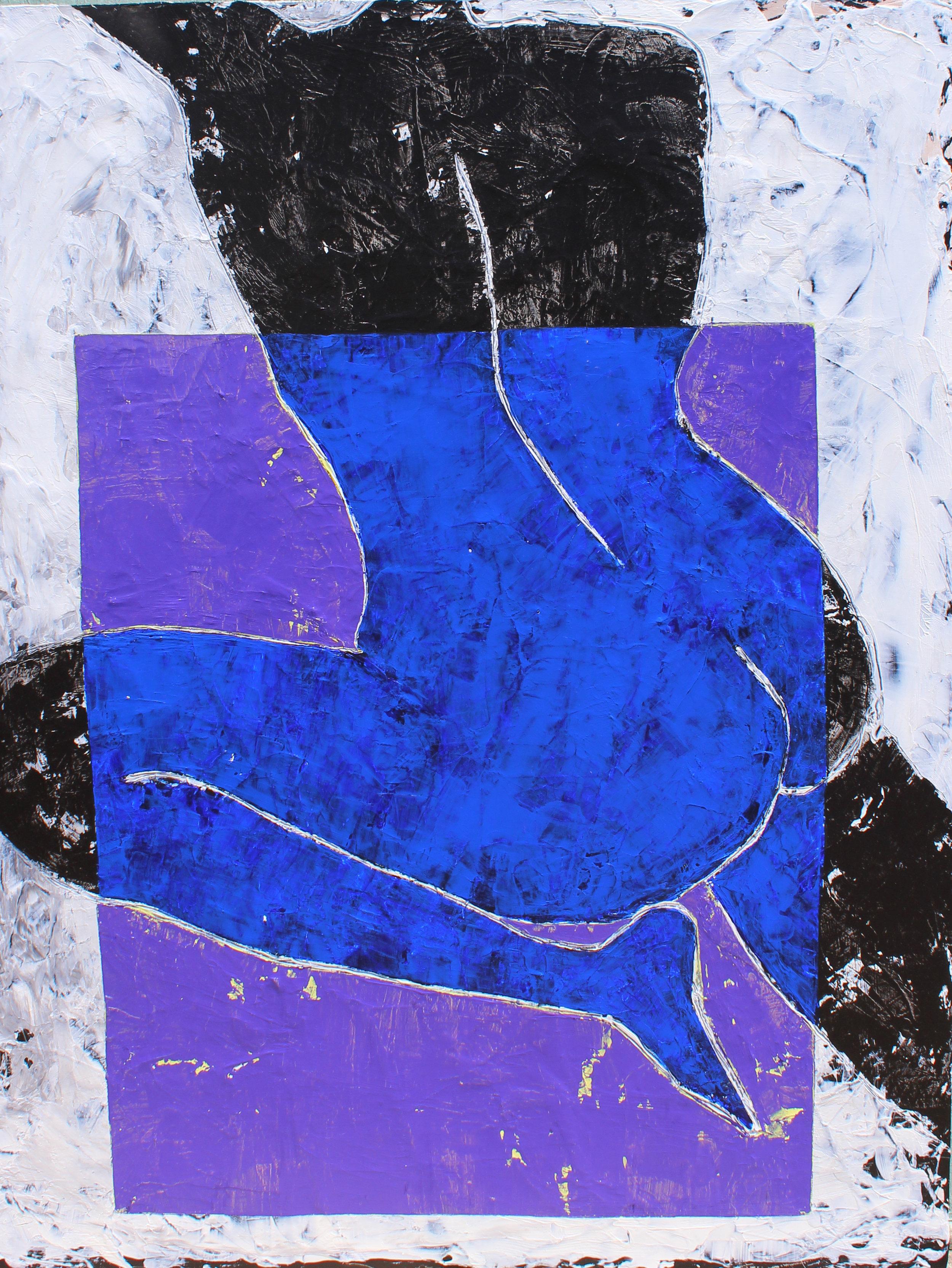 "In Shape - 36"" x 48"" acrylic on canvas$2400"