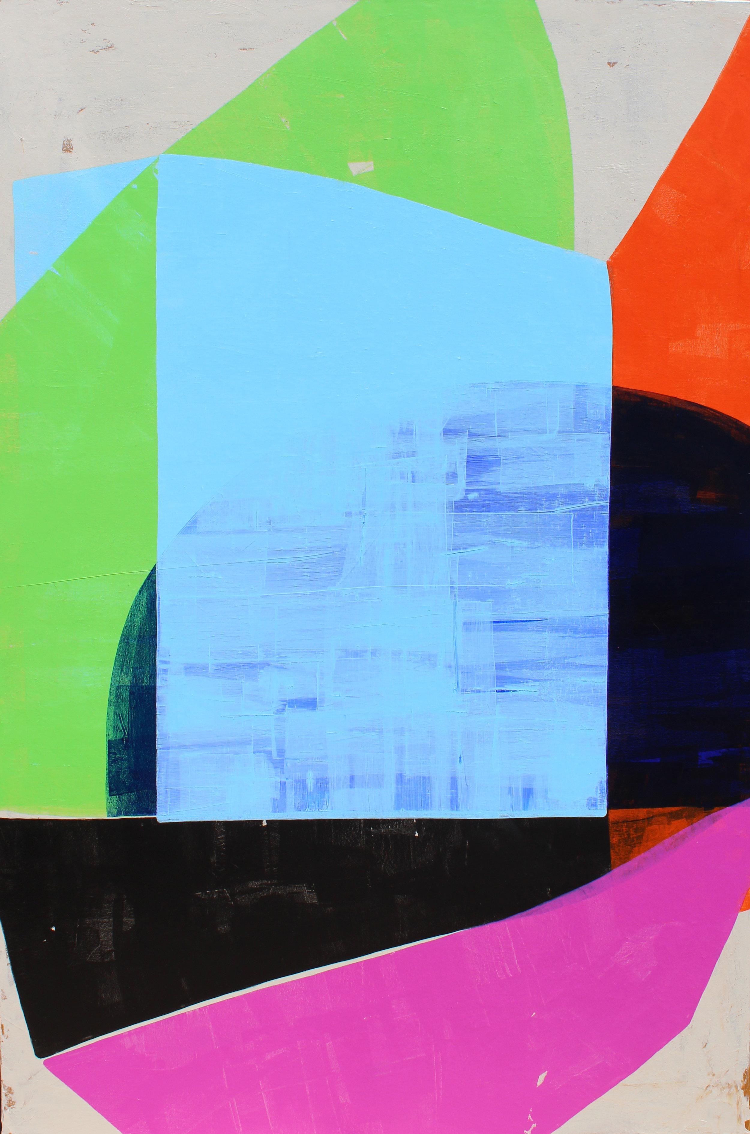 "Outside the Box - 60"" x 40"" acrylic on canvas$2900"