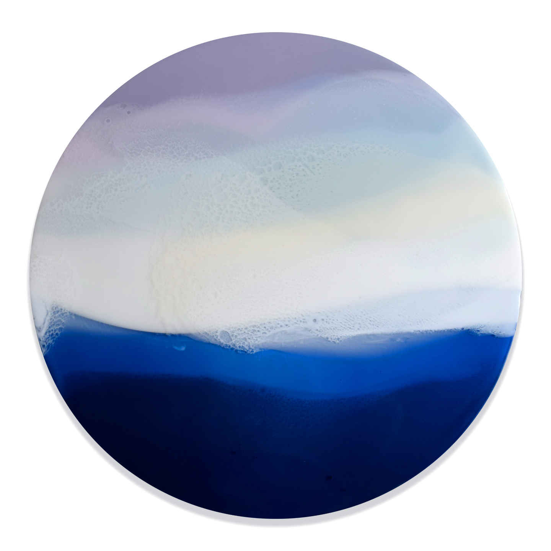"Landless II - Marina Dunbar 24"" x 24"" tinted resin on panel$1475"