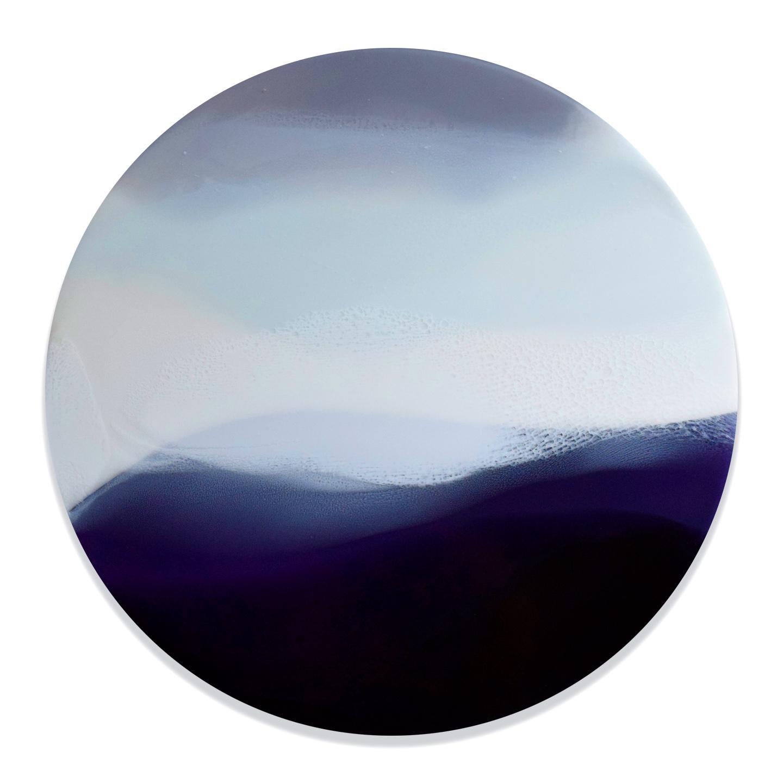 "Landless III - Marina Dunbar 24"" x 24"" tinted resin on panel$1475"