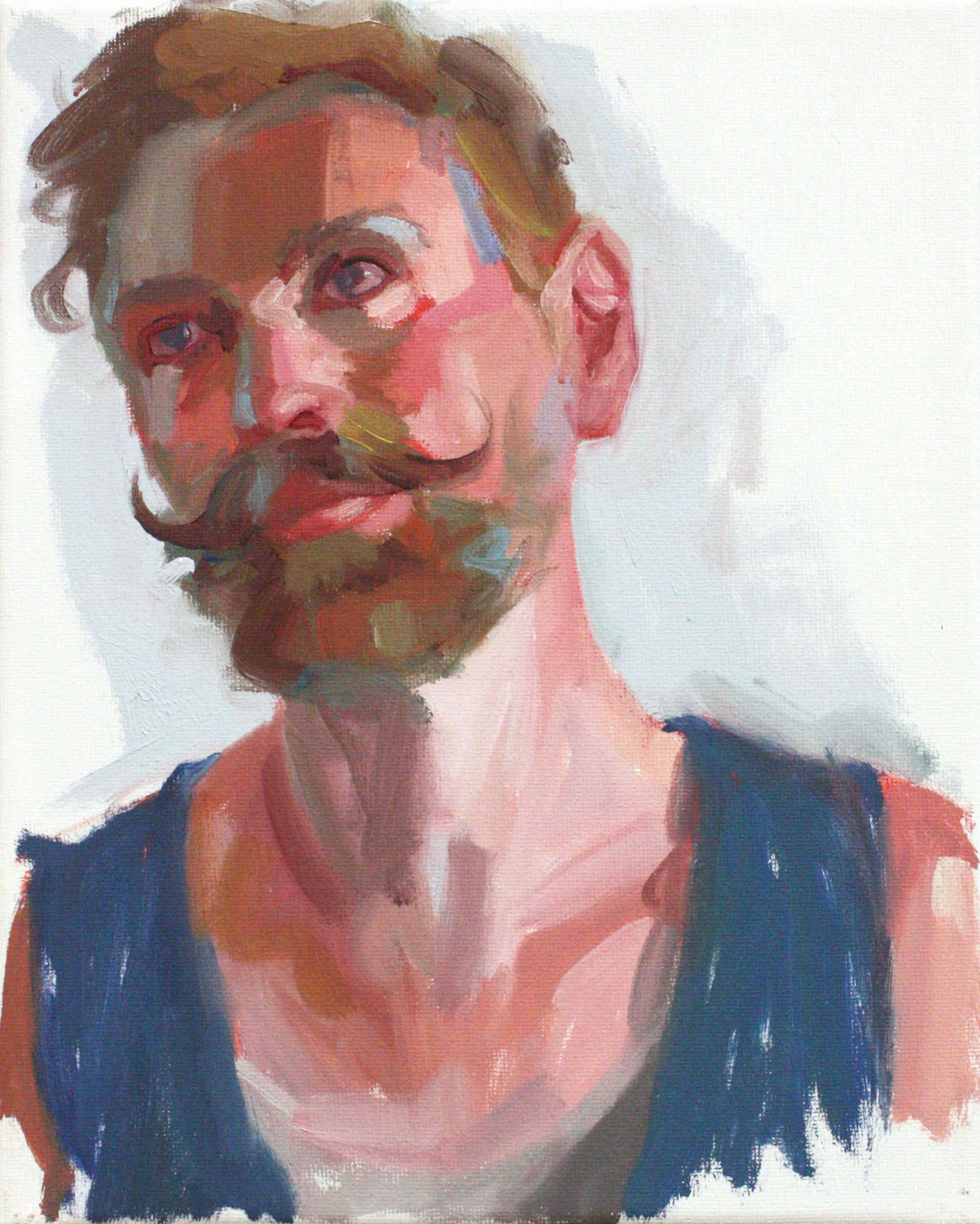 """Portrait II - Jo Hay8"""" x 10"""" oil on canvas$1050"""