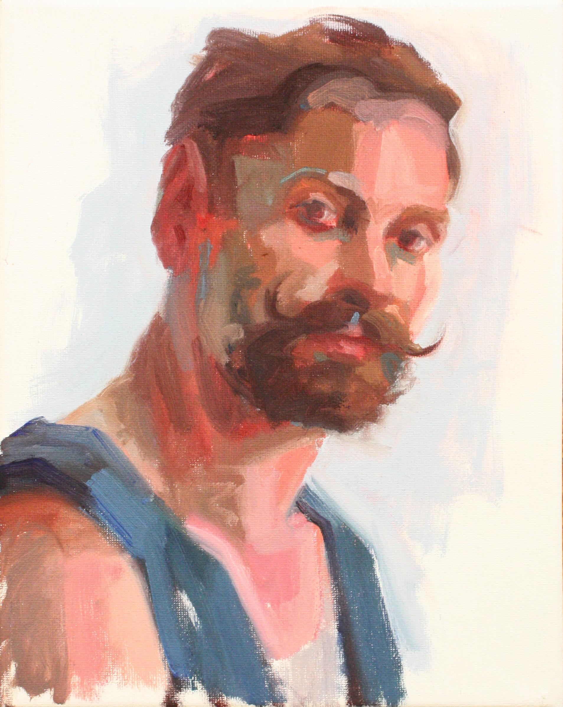 """Portrait III - Jo Hay8"""" x 10"""" oil on canvas$1050"""