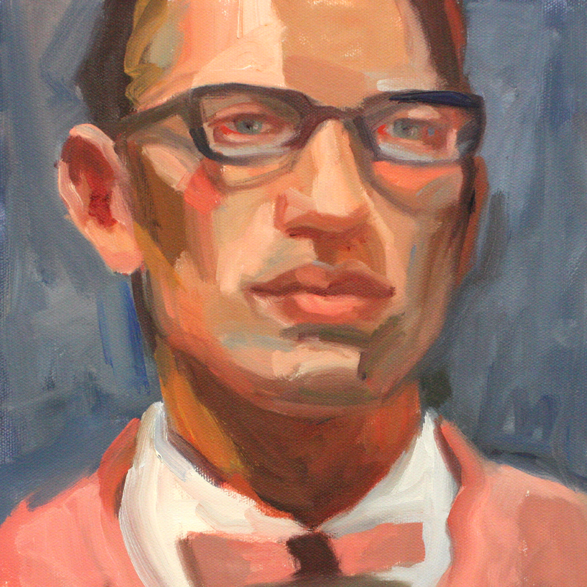 "Portrait IV - Jo Hay10"" x 10"" oil on canvas$1400"