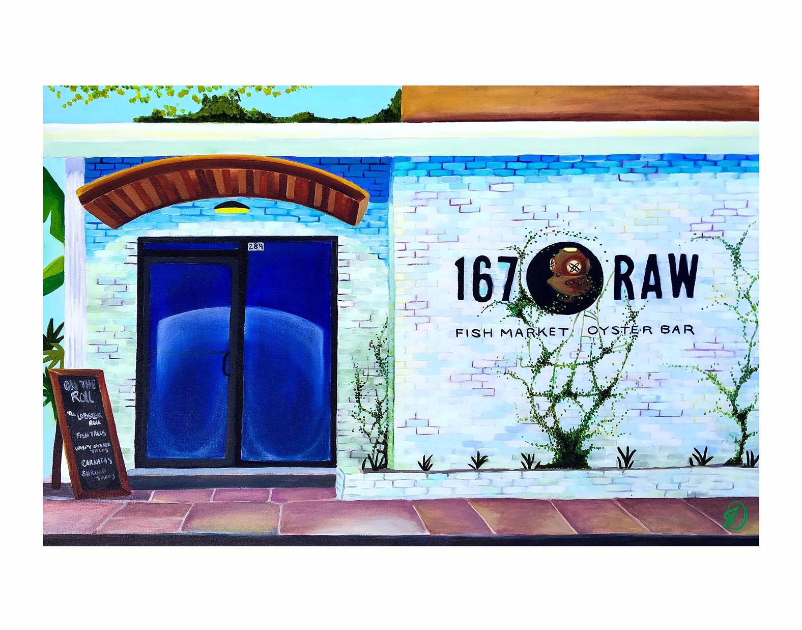 "167 Raw - 11"" X 14"" archival print$50"