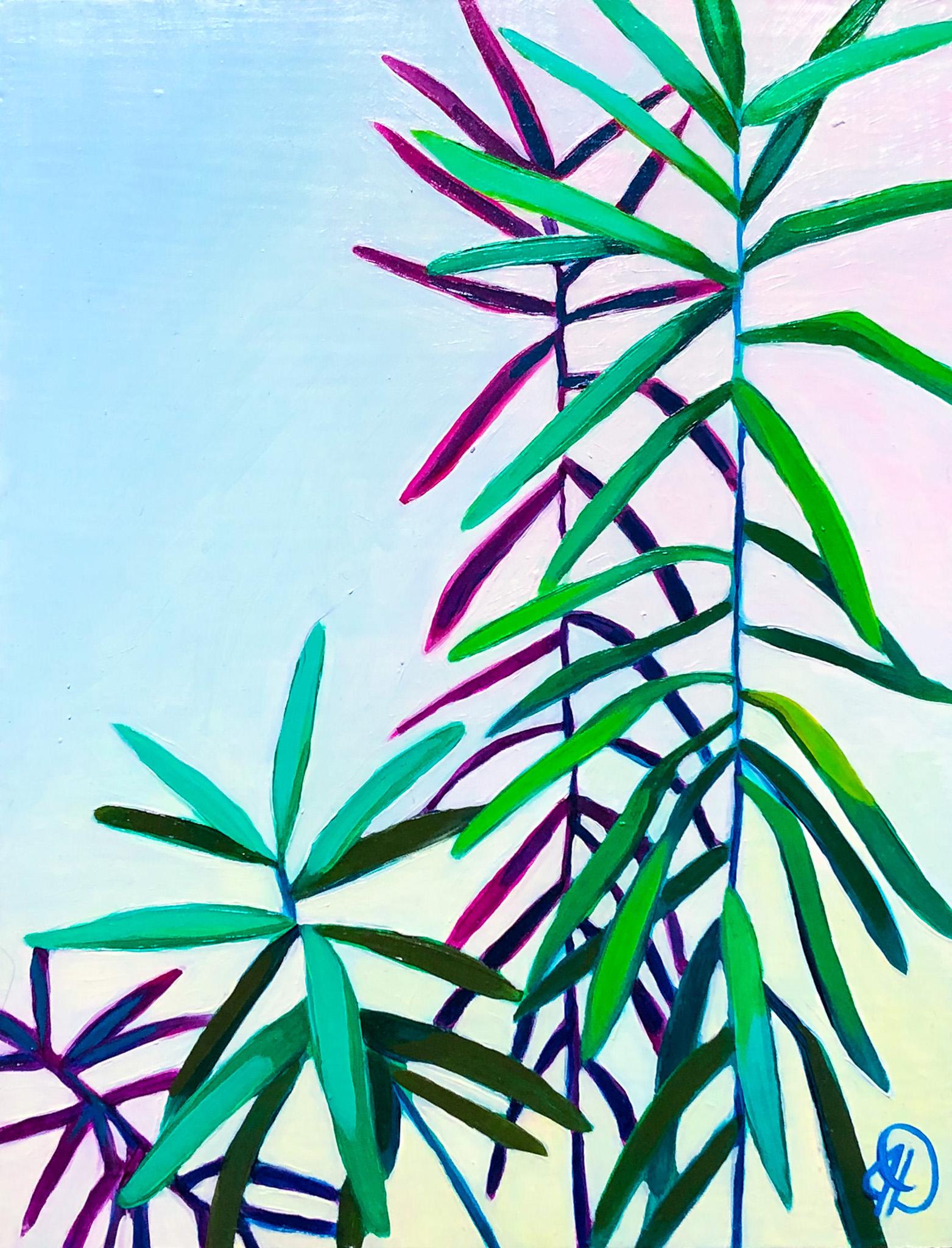 "Untitled Botanical Study - 8"" x 6"" oil on panel$125"