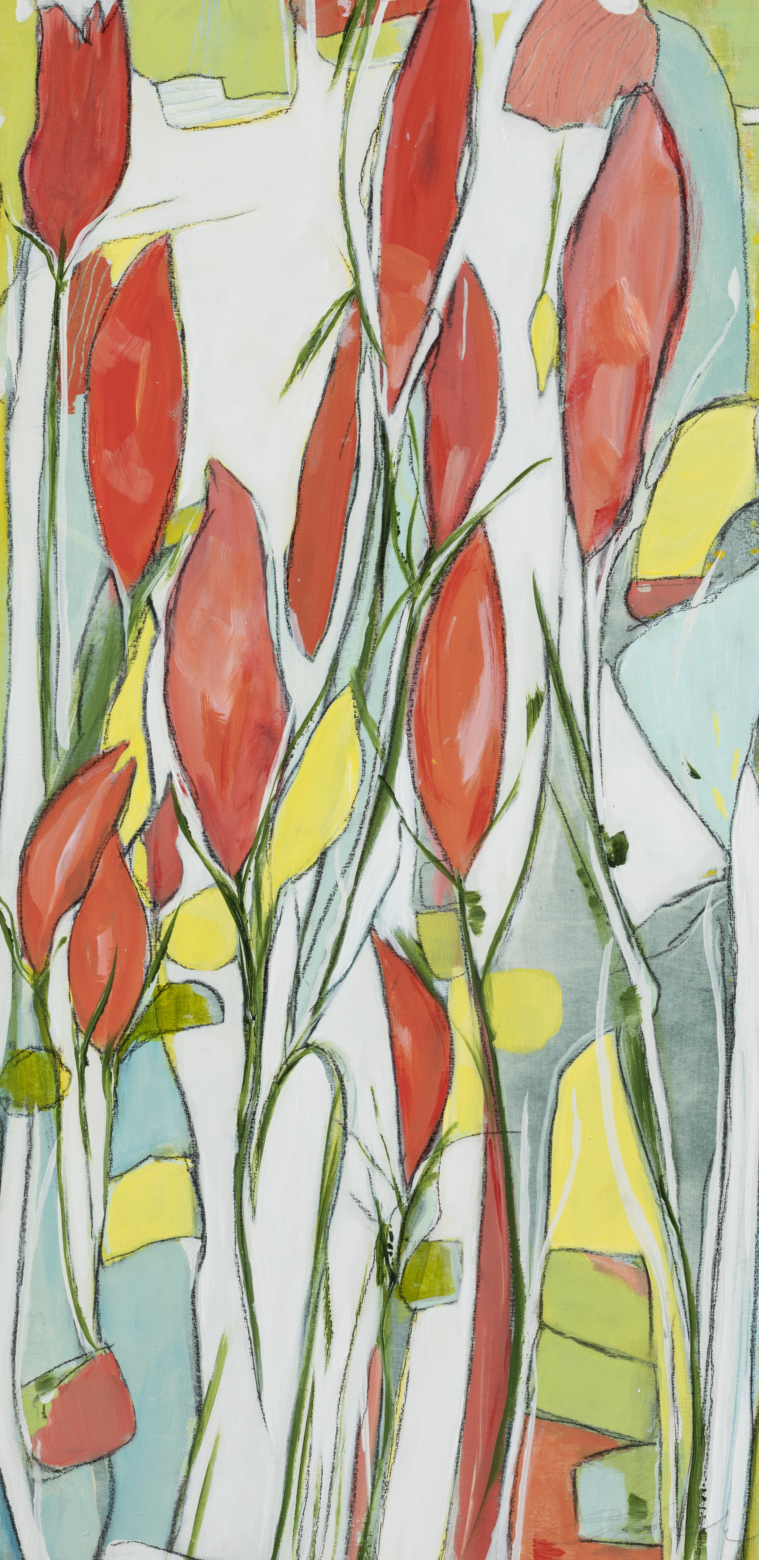 "Through The Gate - 25"" x 13"" x 1""Acrylic, pastel, panel, framed$450"