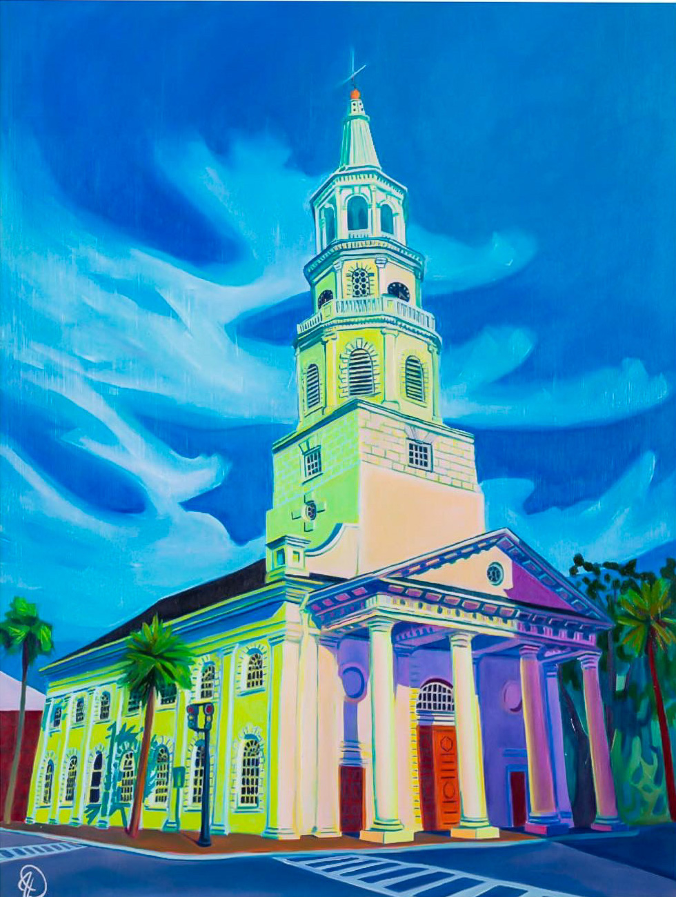 "St. Michael's Church | Charleston, SC - 24"" x 18"" oil on panel$900"