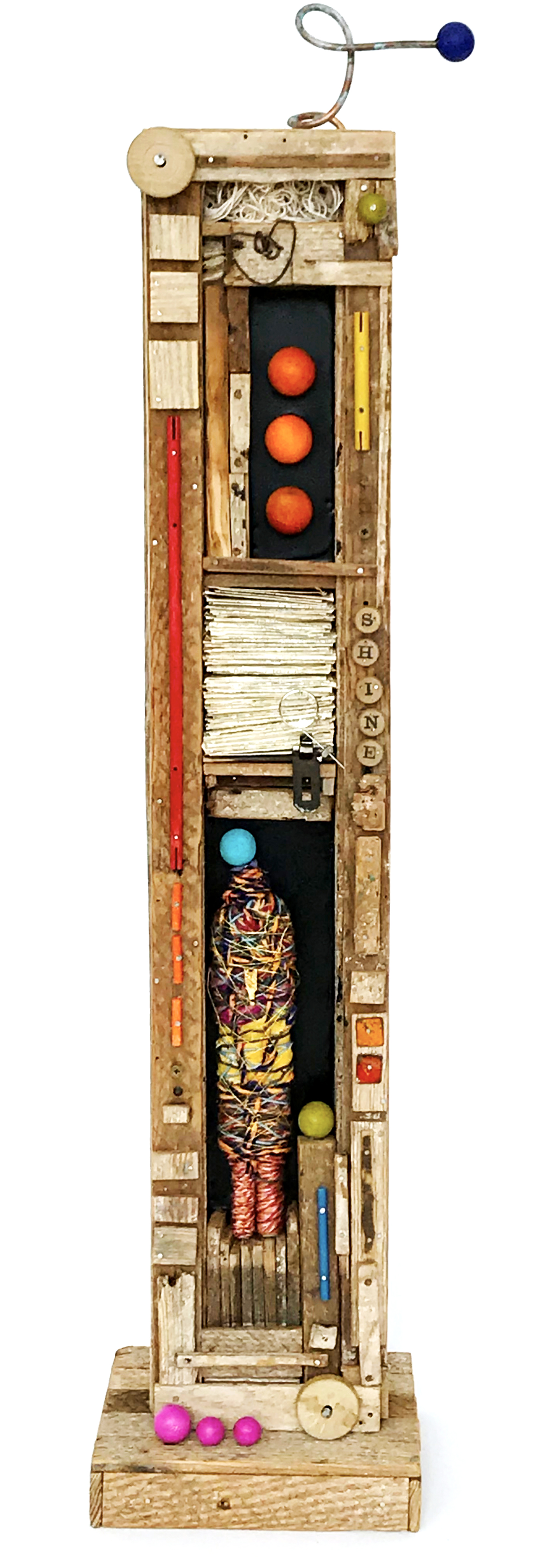 """The Wanderers #1 - 37"""" x 9.5"""" assemblage$1100"""