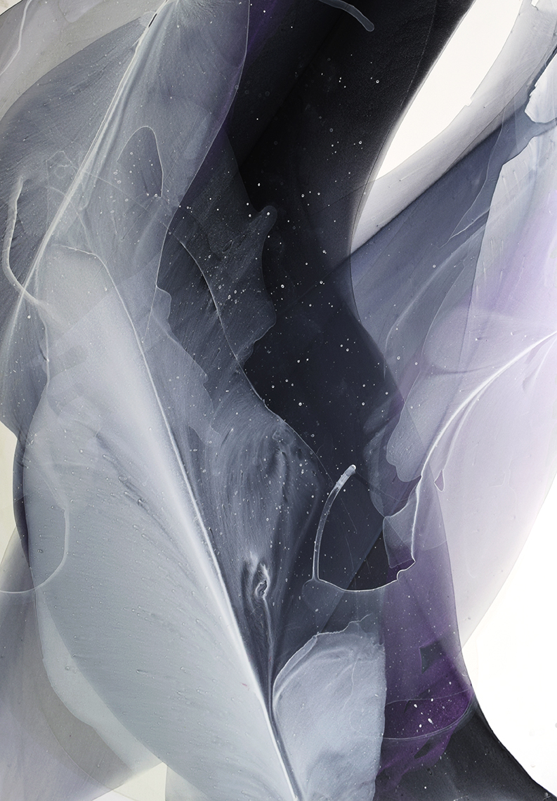 """Movement Study in Interference Violet - 22"""" x 28"""" water media on paper, framed$1100"""