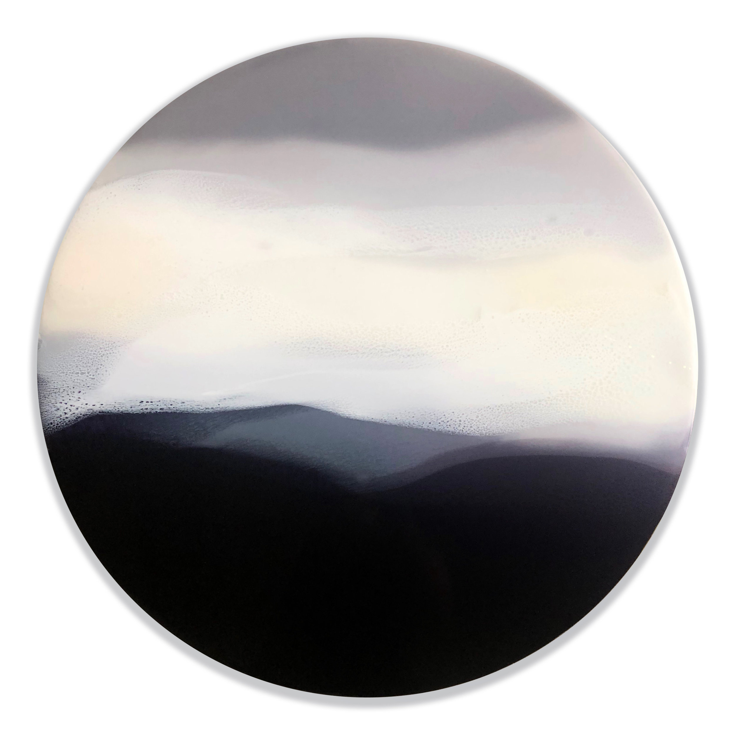 "Landless IV - Marina Dunbar 24"" x 24"" tinted resin on panel$1200Currently exhibiting at INTRO510 King Street"