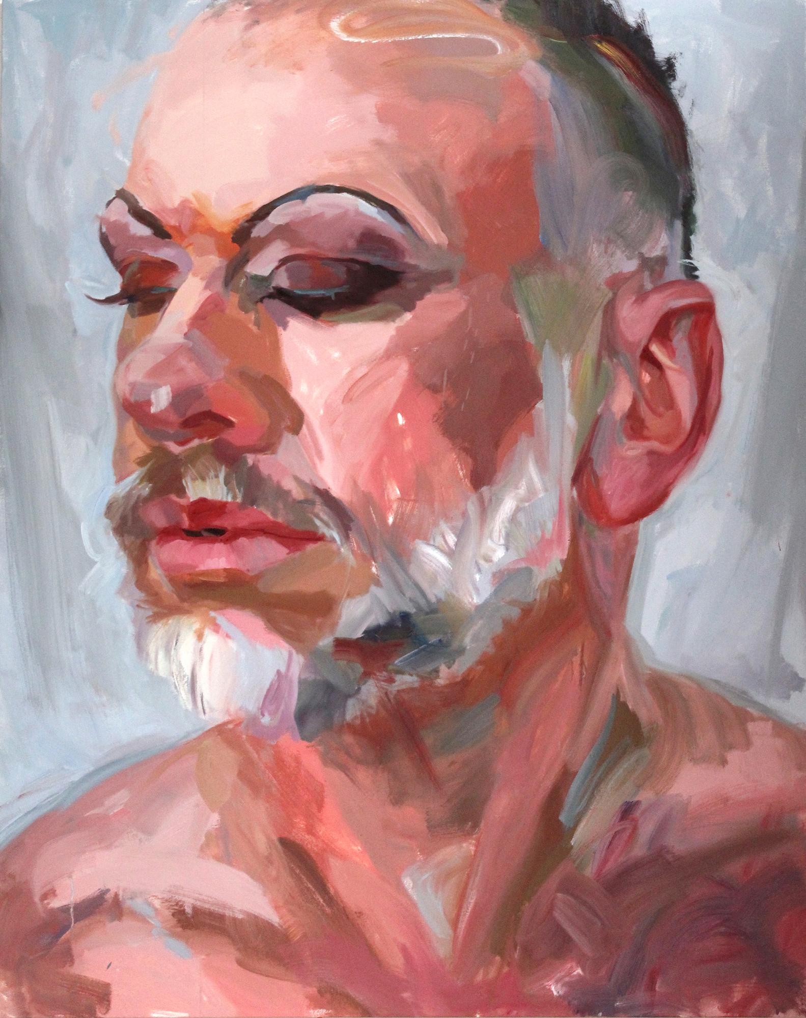 "Sleeping Beauty - 60"" x 48"" oil on canvas$12,500"