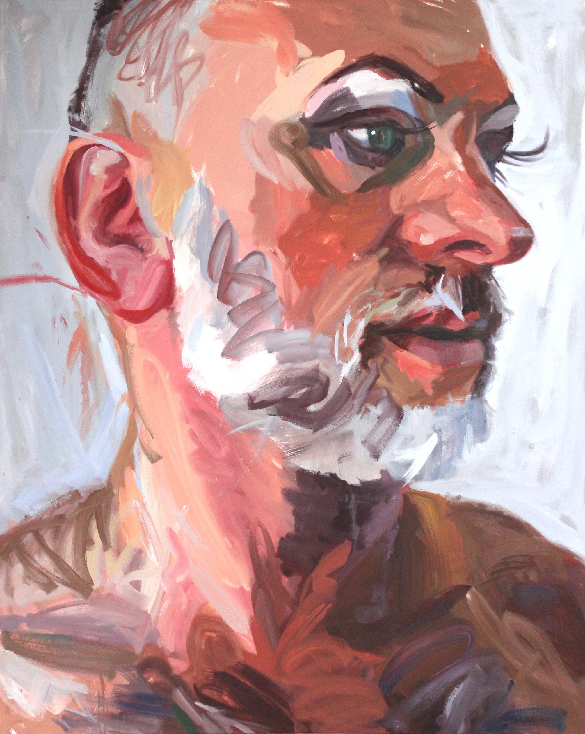 "Whiplash - 60"" x 48"" oil on canvas$12,500"