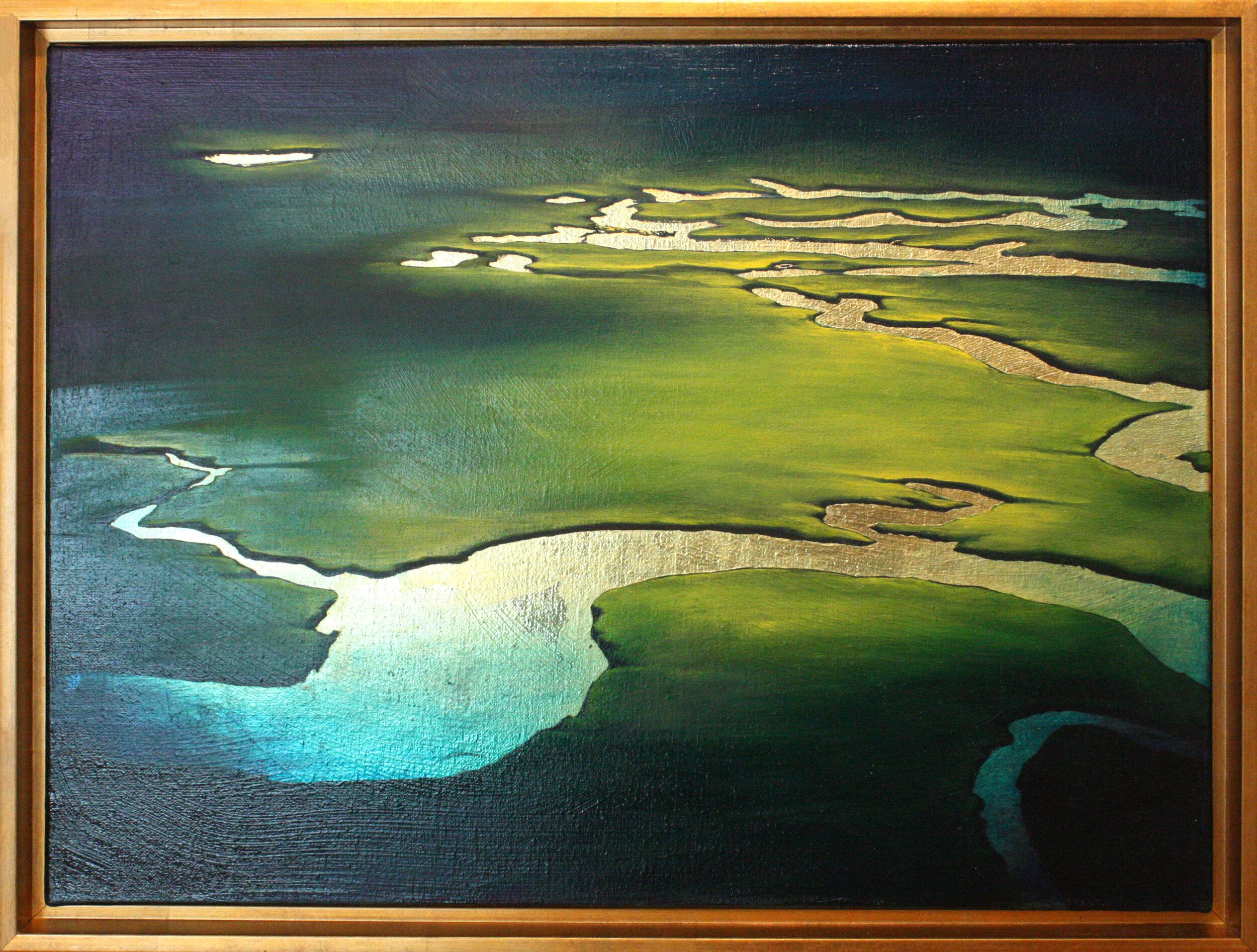 """Be Still - 18"""" x 24"""" oil on canvas, framed$1300"""
