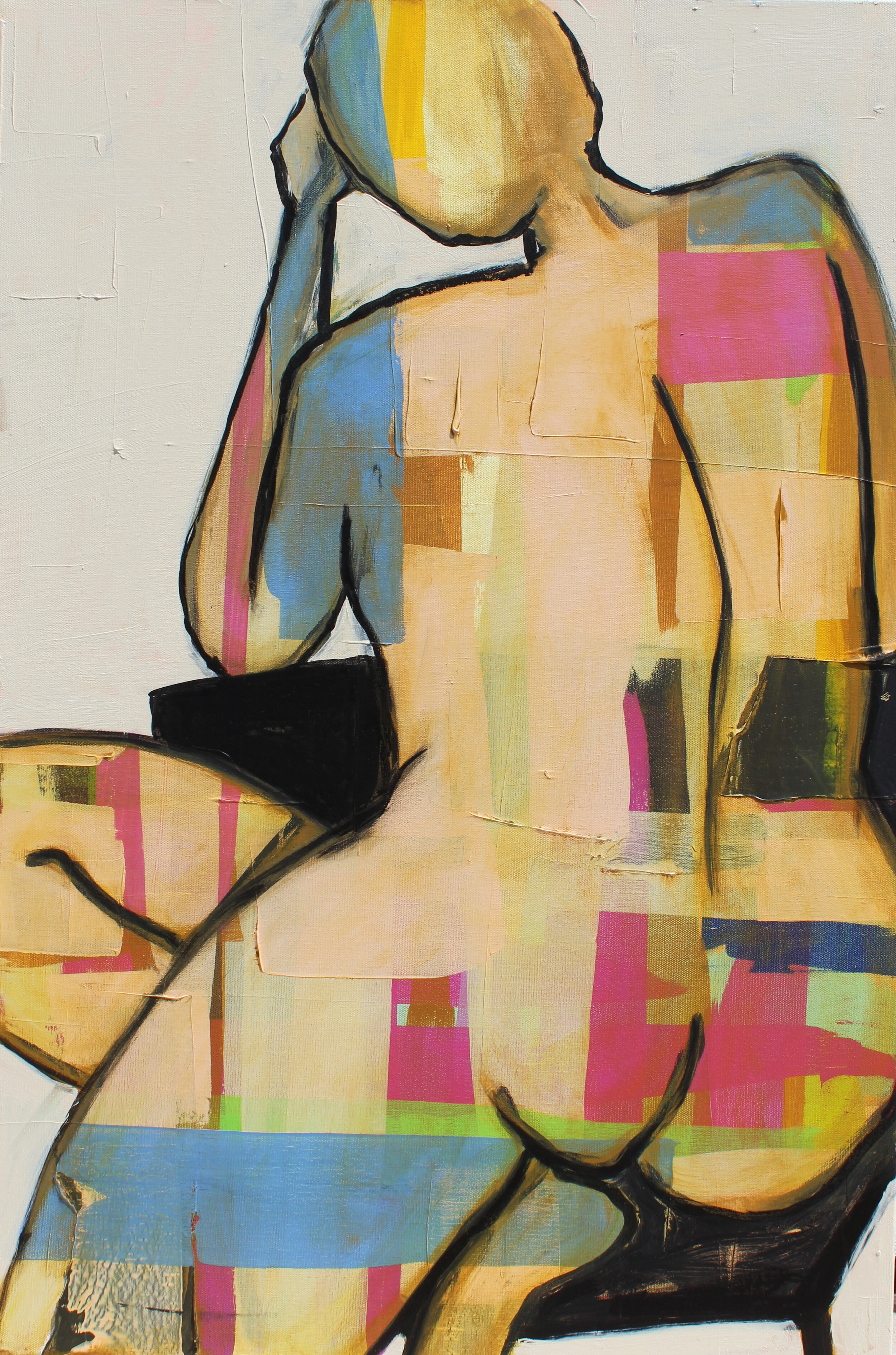 """From Within - 36"""" x 24"""" acrylic and ink on canvas$1650"""