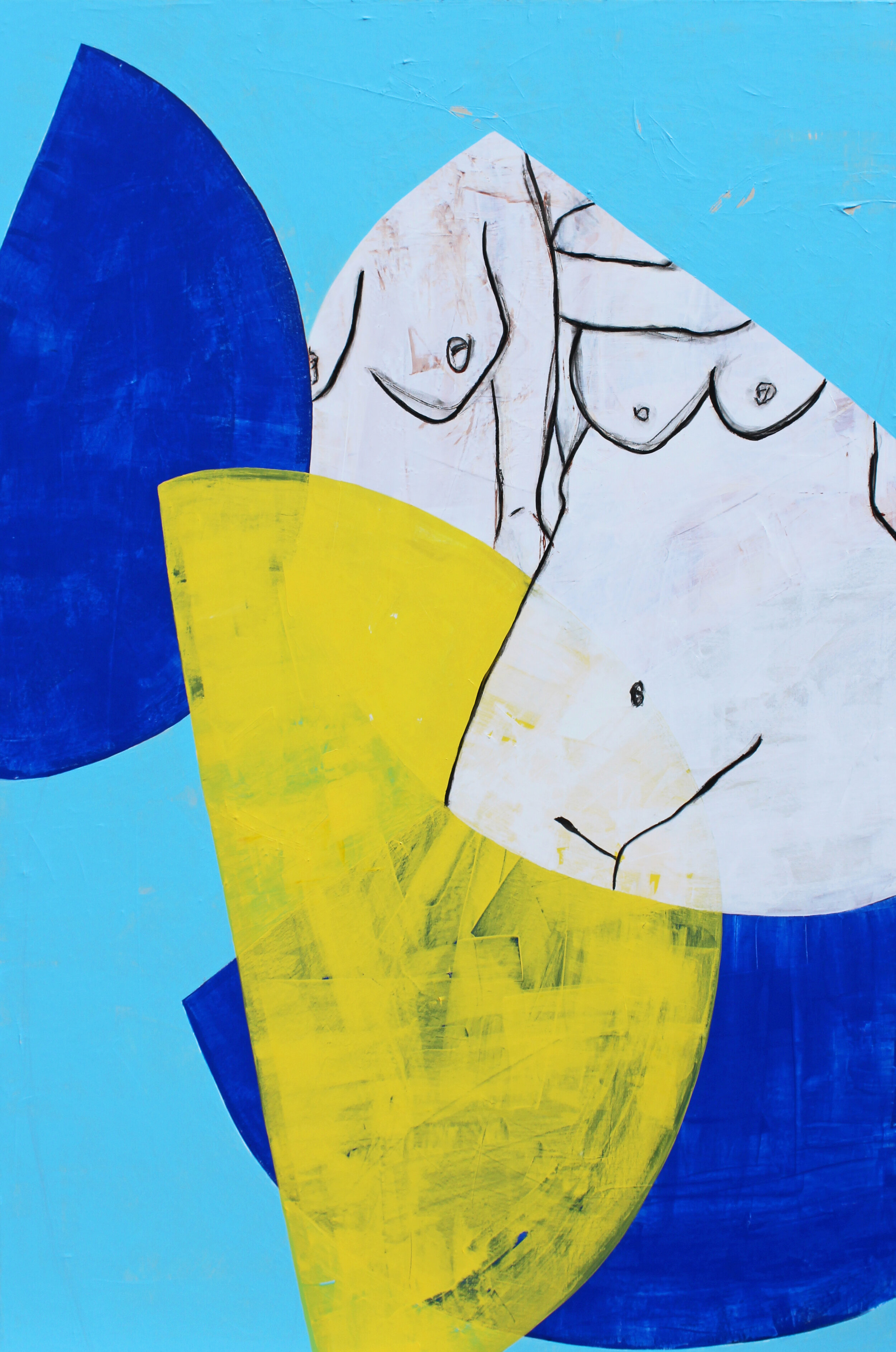 """Tandem - 60"""" x 40"""" acrylic and charcoal on canvas$3000"""