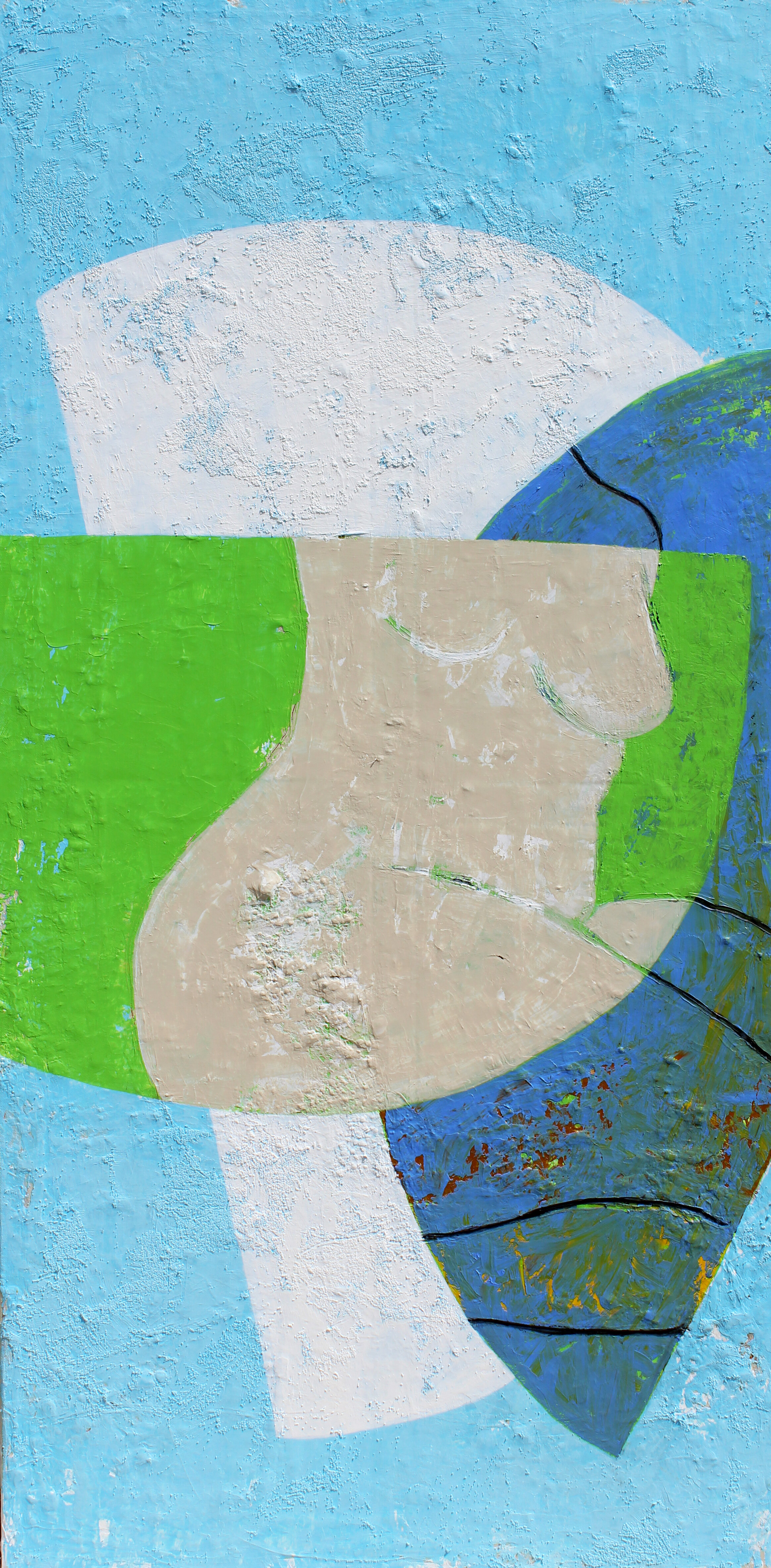 """Opposites Attract - 48"""" x 24"""" acrylic on canvas$1800"""