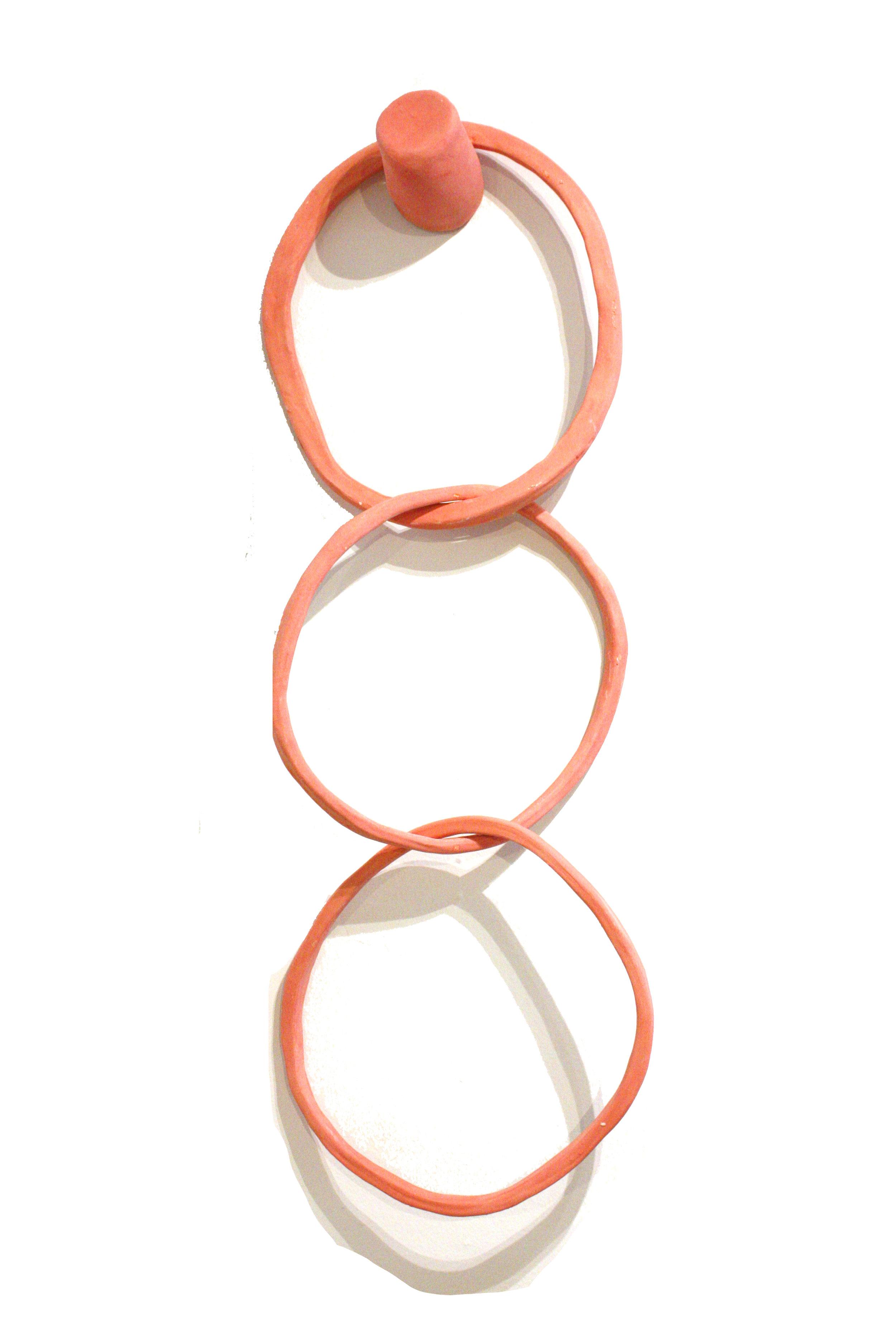 """Pink Rings - 33"""" x 11"""" glazed ceramic$300"""