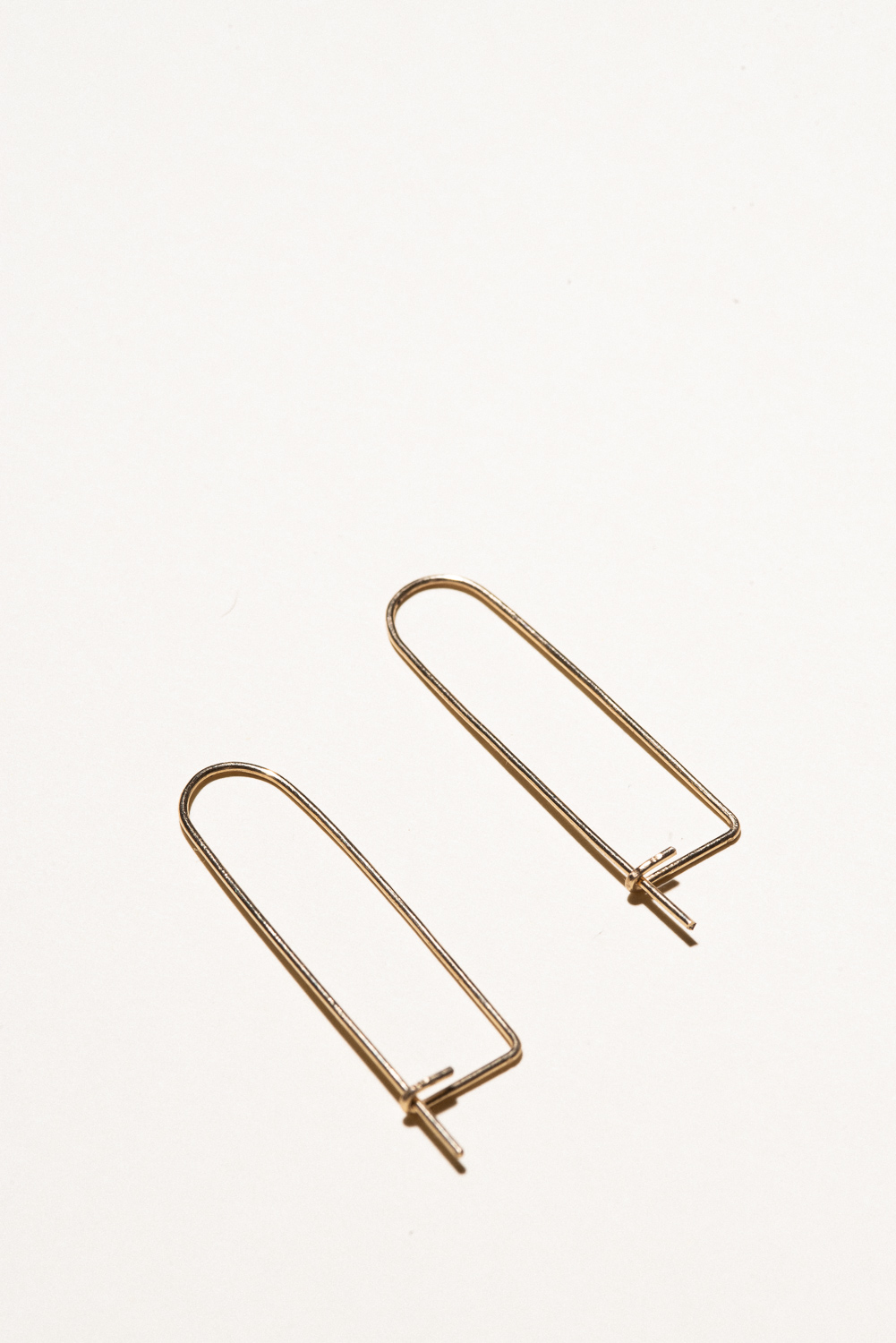 Gold Filled Clippie Earrings - 1.5in longGold Filled Hand Smithed$50