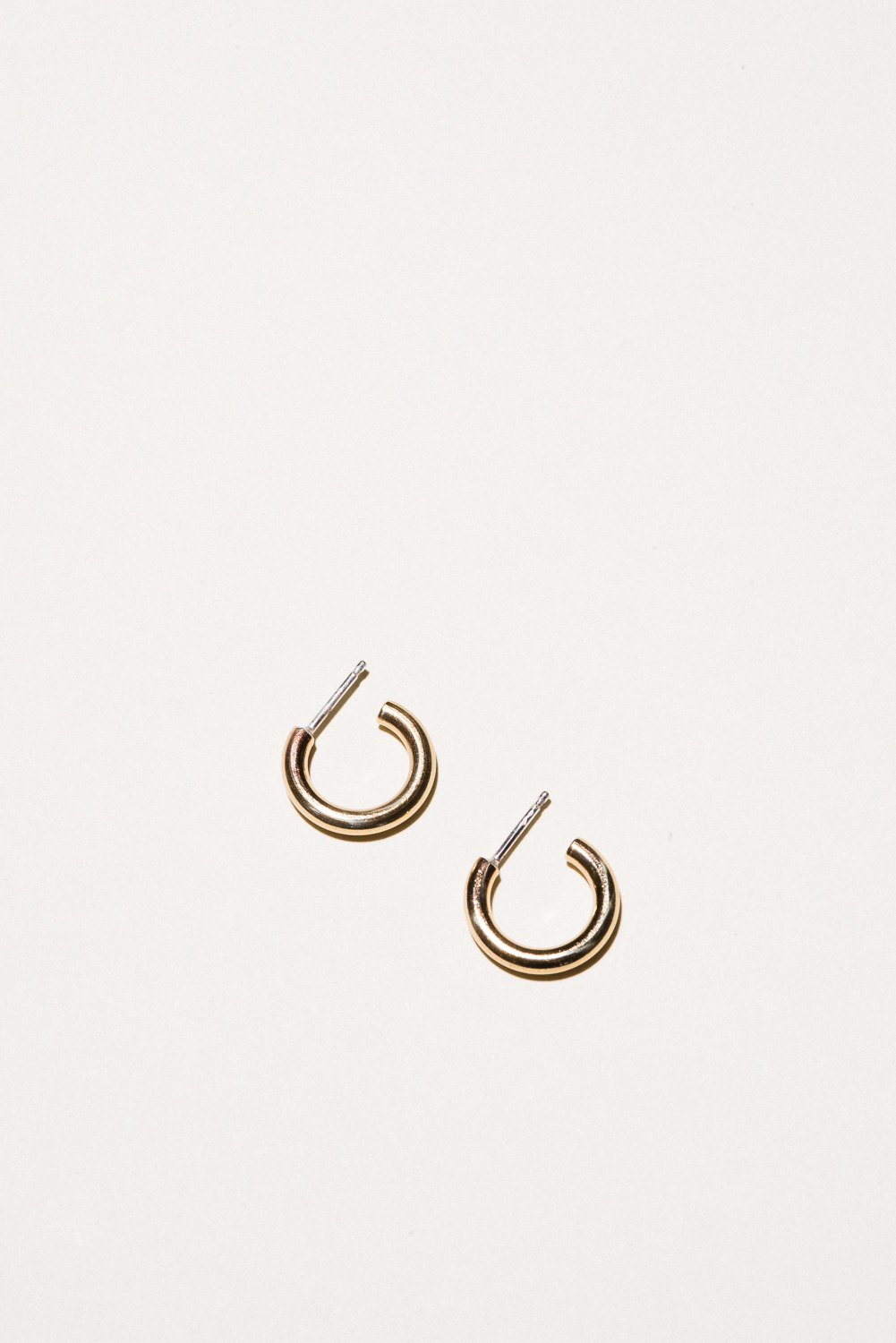 Small Brass Classic Hoops - .6 in diameterJewelers Brass, Lacquer FinishHand Smithed$40