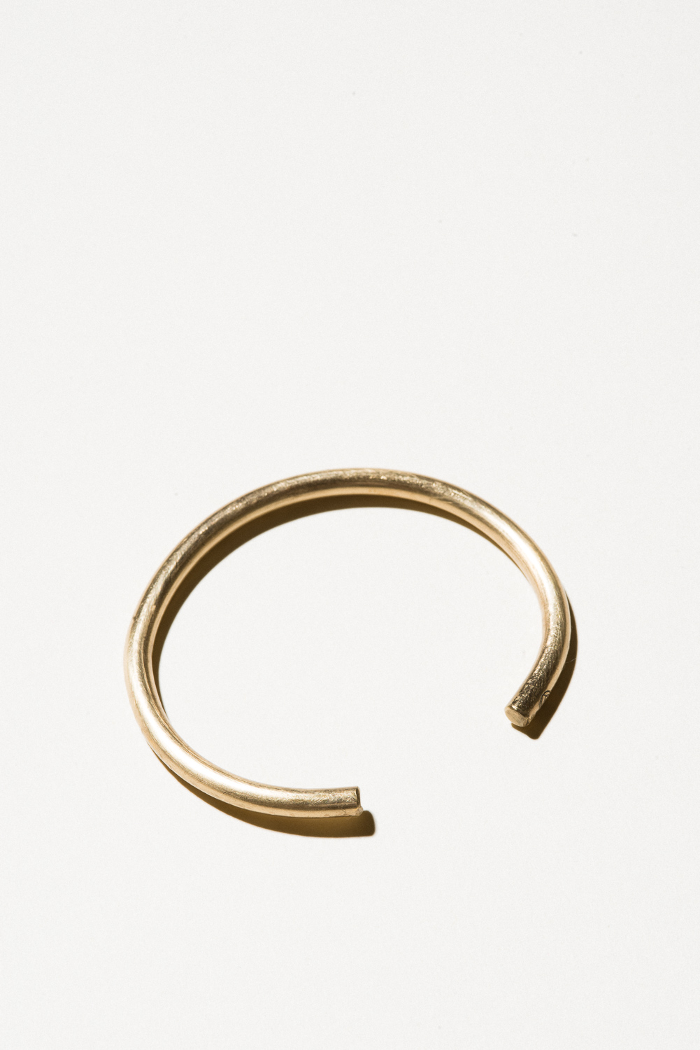 Brass Wire Cuff - 5mm wideJewelers Brass with Lacquer FinishHand Smithed$50