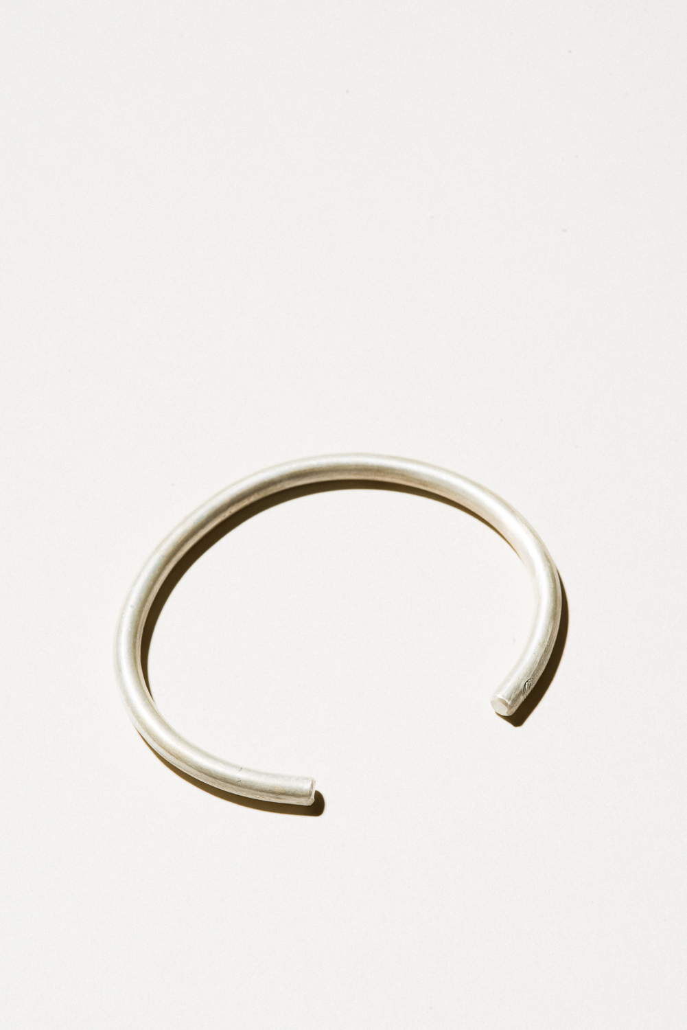 Silver Wire Cuff - 5mm wideSterling Silver, Raw FinishHand Smithed$100