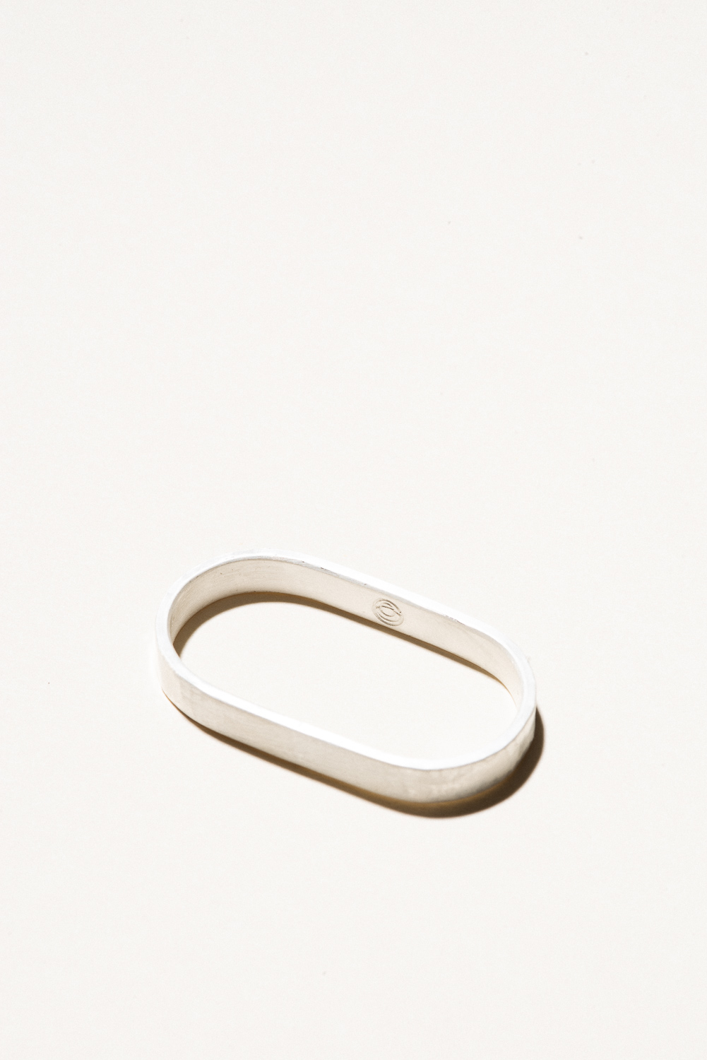 Two Finger Ring - 5mm wideSterling Silver, Raw FinishHand Smithed$125