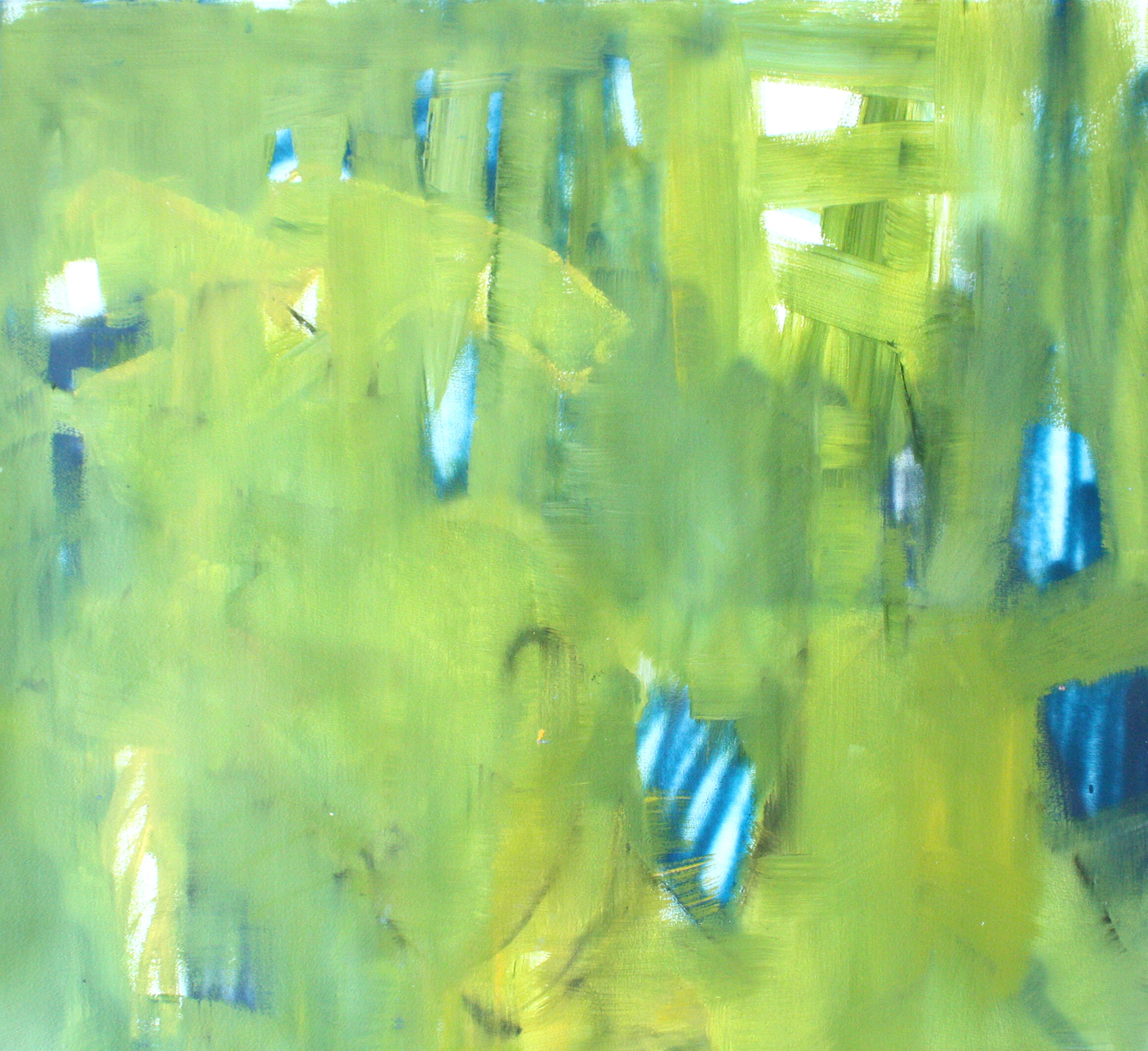 "Vibrant - 40.5"" x 37"" oil on paper$1900"