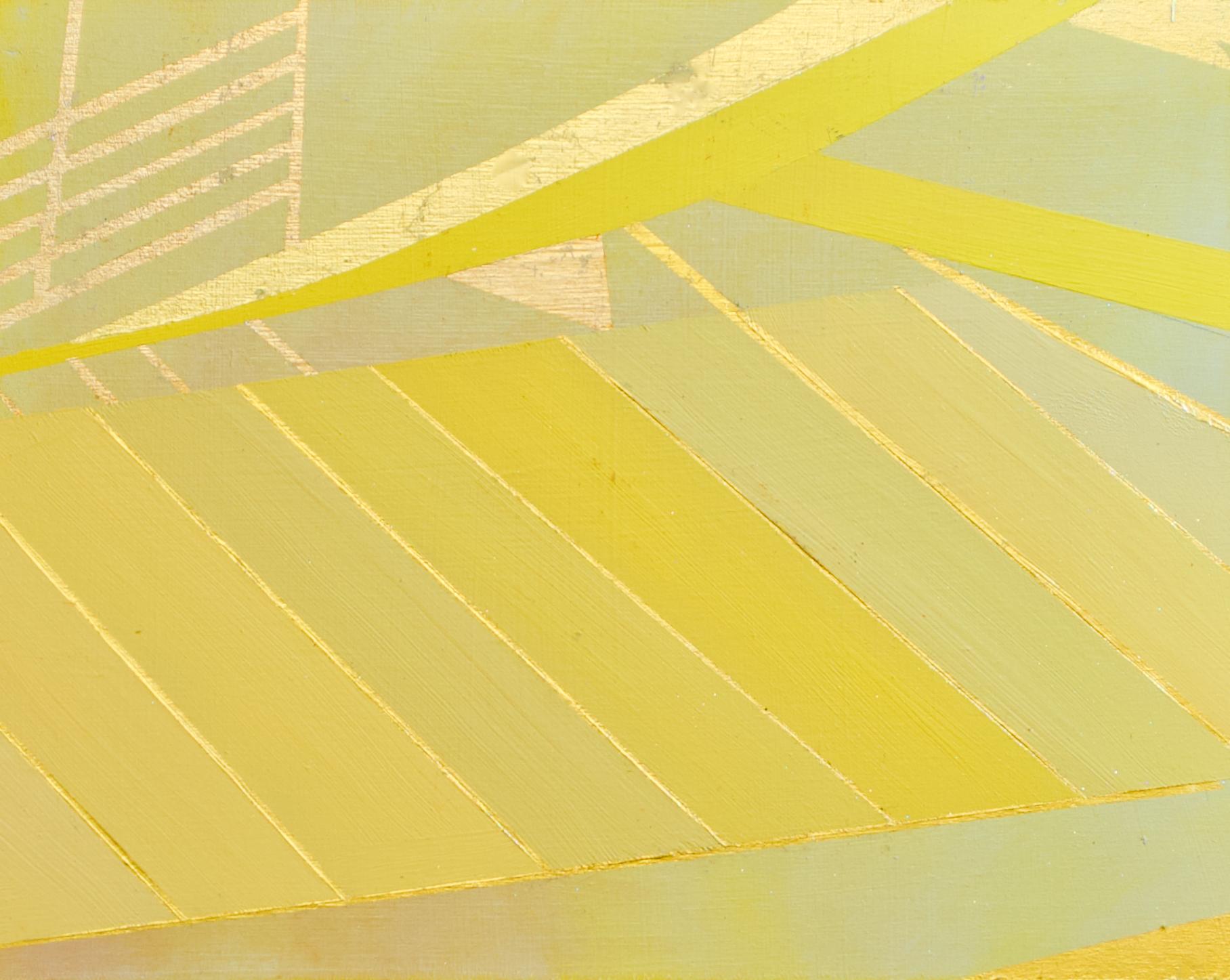 "Wonderwheel #25 - 8"" x 10"" oil and gold leaf on panel $350"