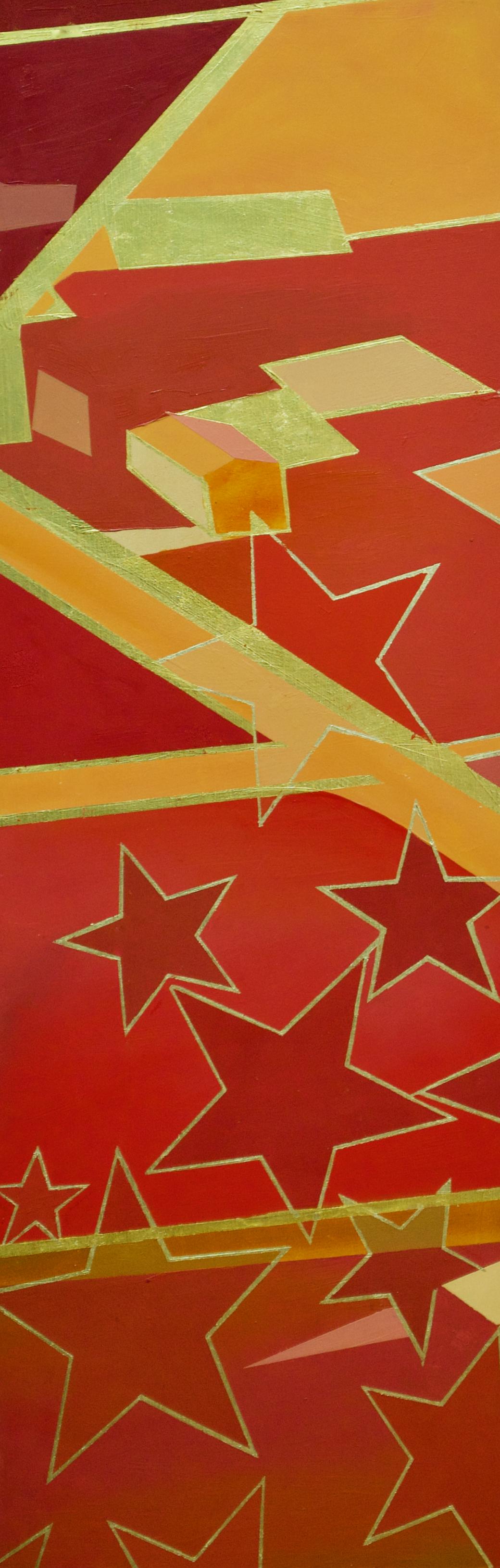 "Wonderwheel #16 - 30"" x 10"" oil and gold leaf on panel$975"