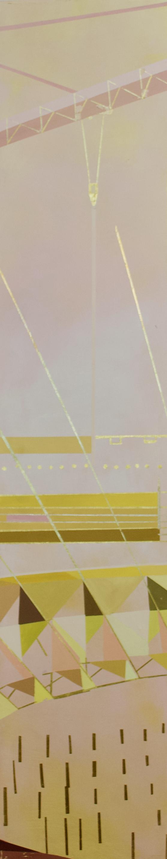"Wonderwheel #37 - 50"" x 10"" oil and gold leaf on panel$1600"