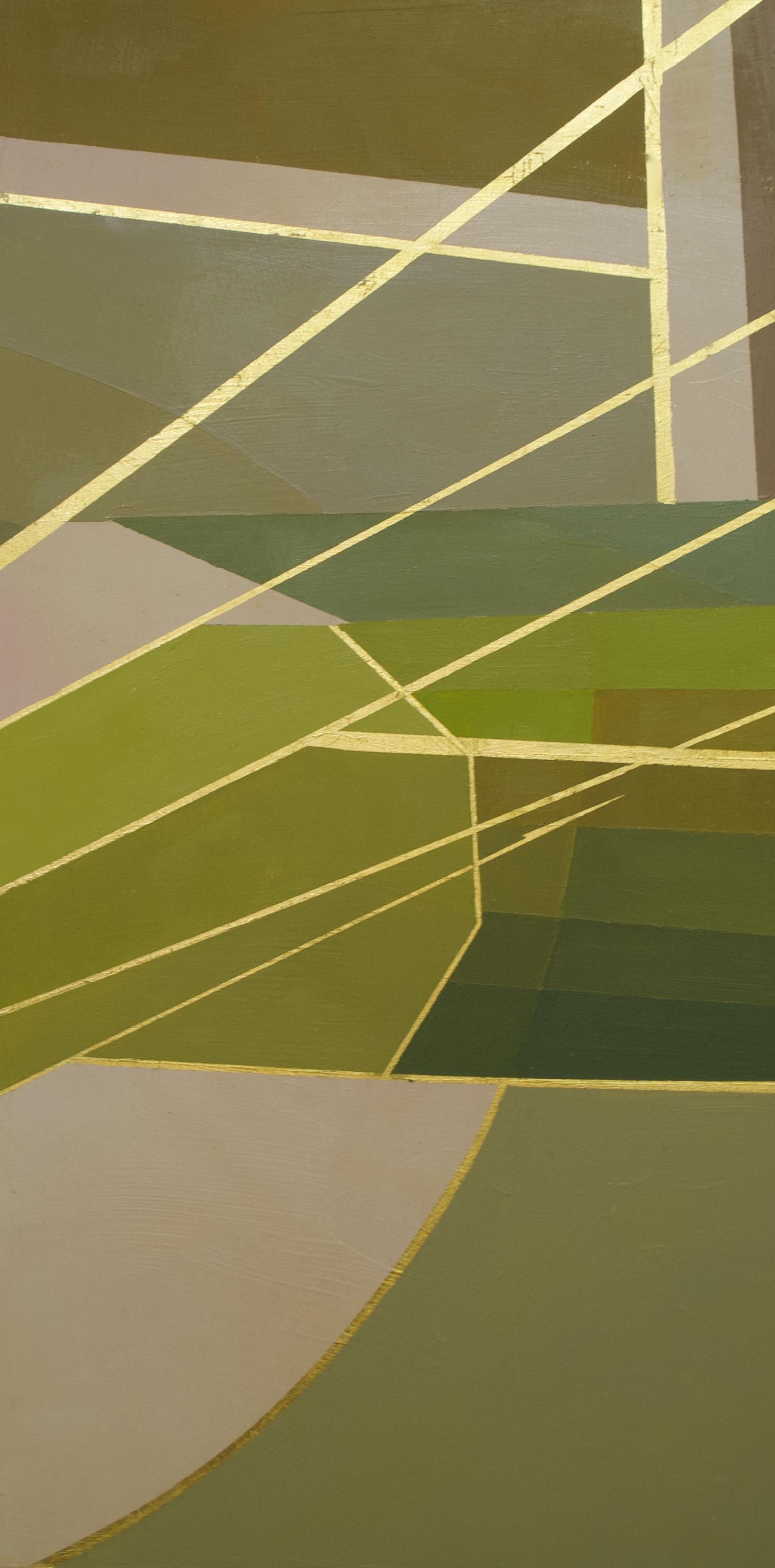 "Wonderwheel #41 - 20"" x 10"" oil and gold leaf on panel$650"