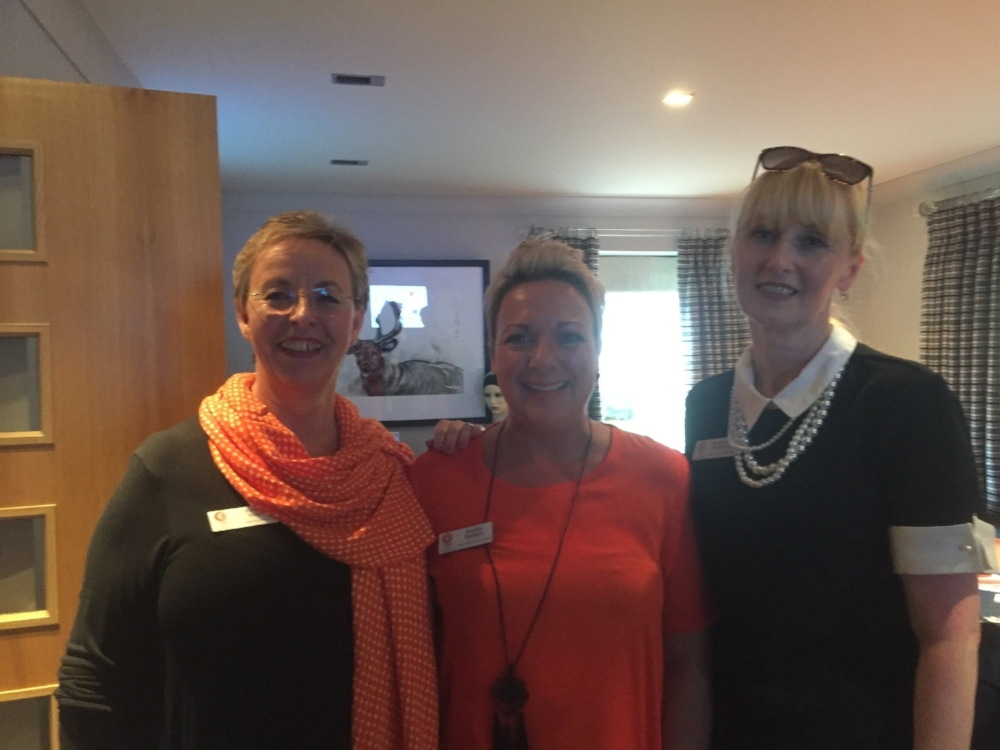 Karen (Chief Executive), Sandra (Marketing & Web Manager) & Sarah ( Educator)