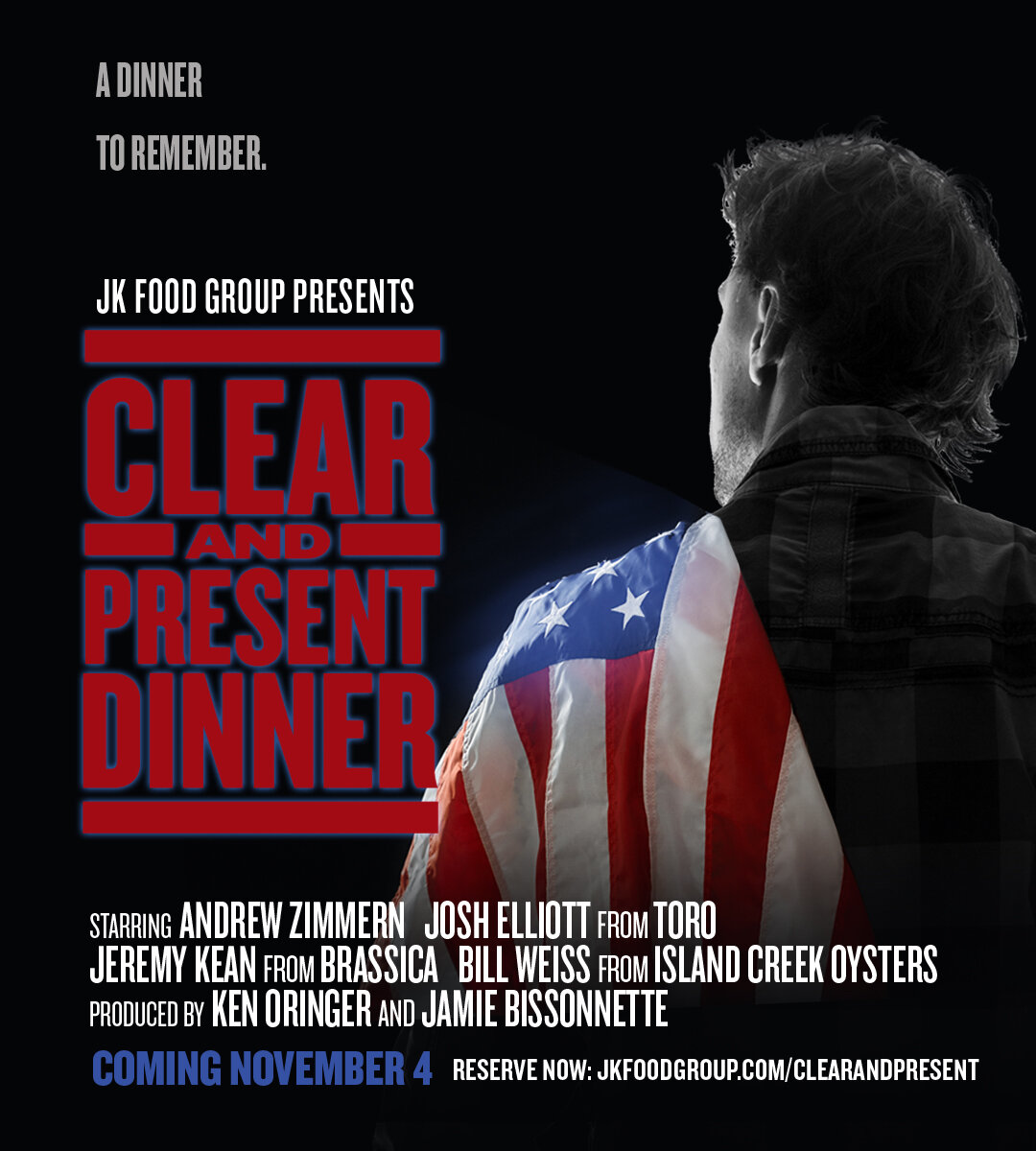 Clear and Present Dinner - This November…. A Dinner to Remember