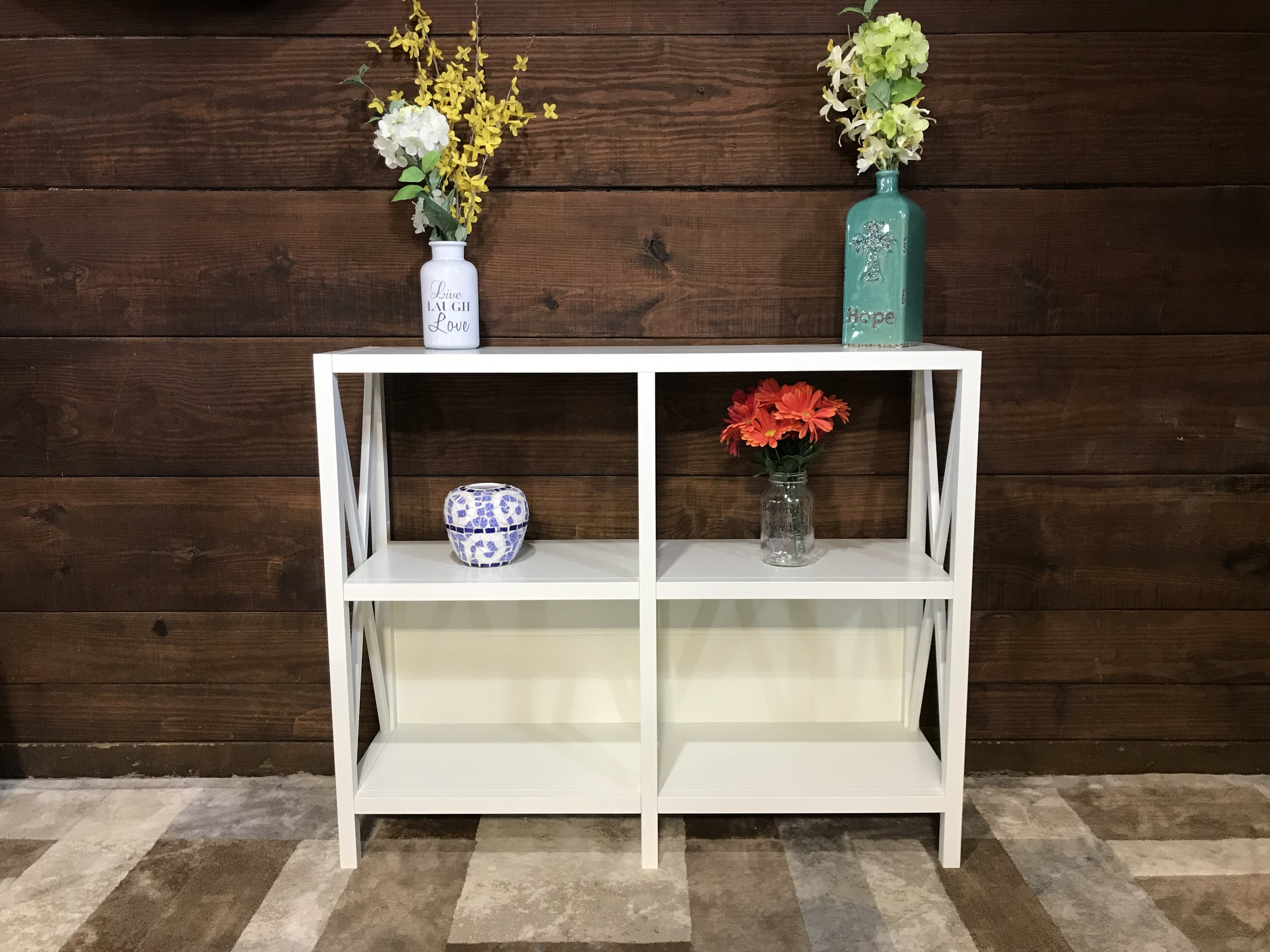 Sold Threshold Hamilton Horizontal Bookcase White Piq Creative Living