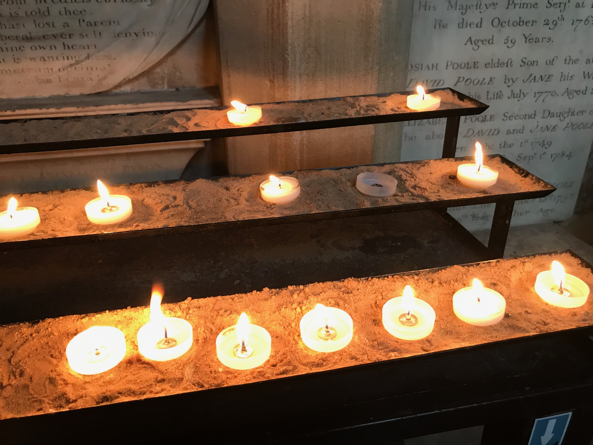 Prayers of light, Bath Abbey