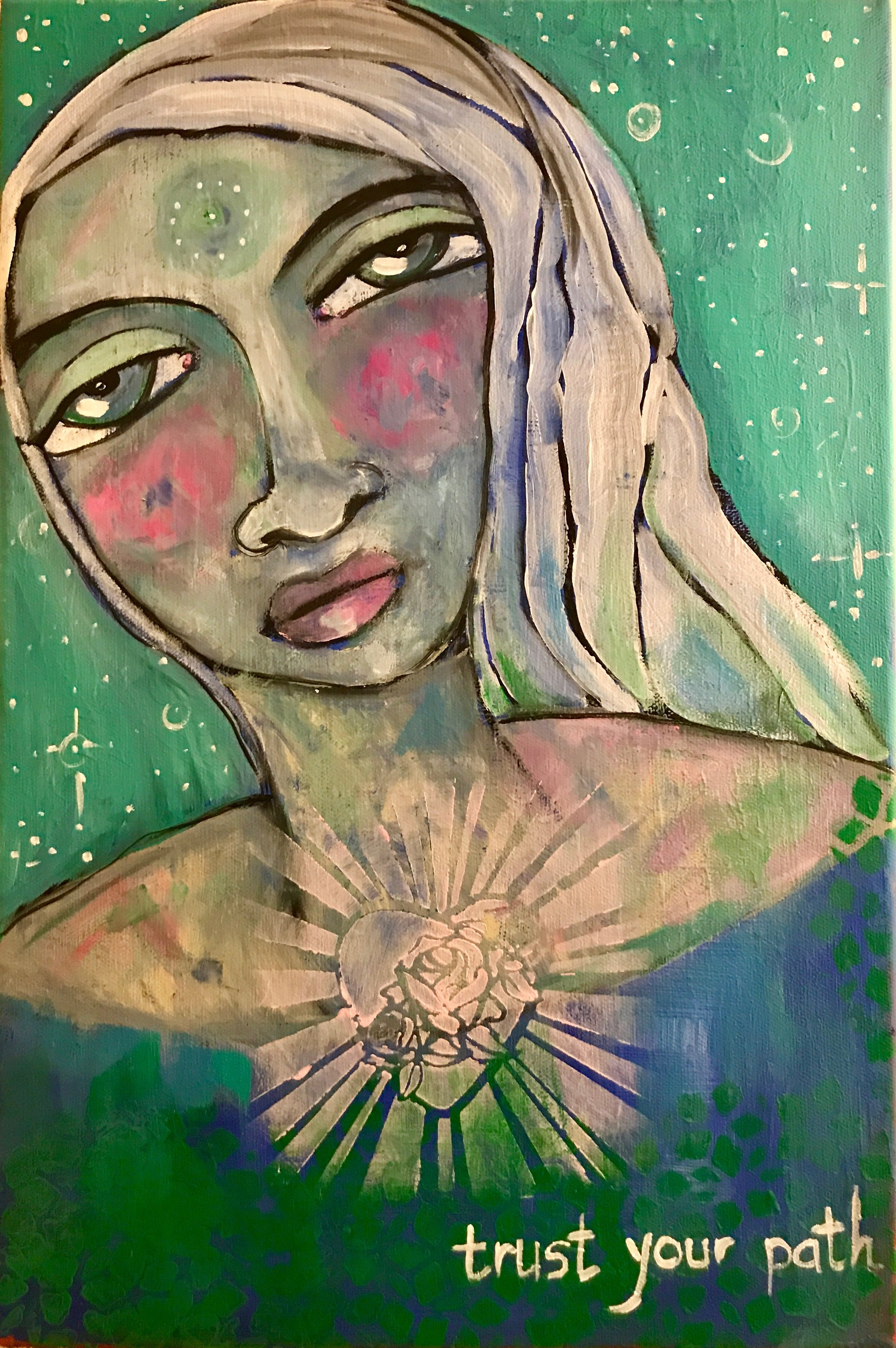 Trust Your Path    Acrylic on Canvas